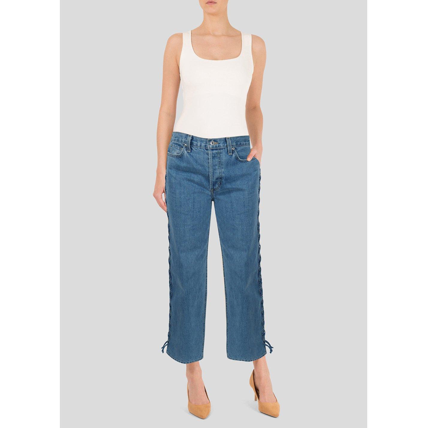 Jonathan Simkhai Braided Jeans