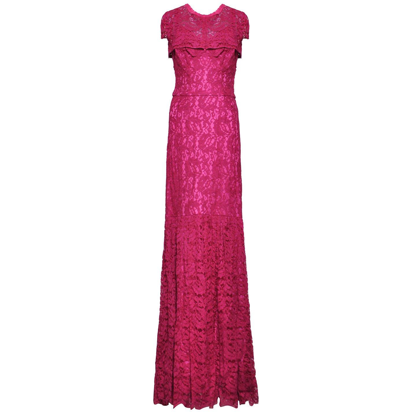 DOLCE & GABBANA Lace Dress & Shoulder Lay