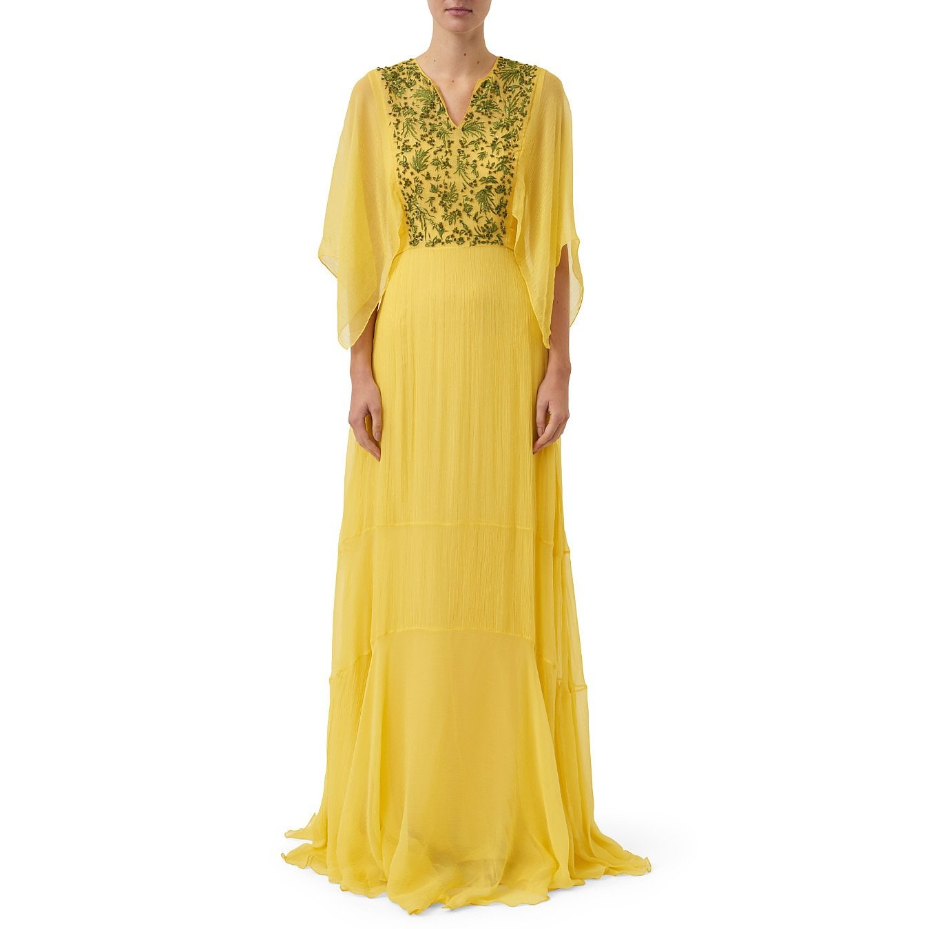 Noon By Noor Lou Dress With Embroidered Details