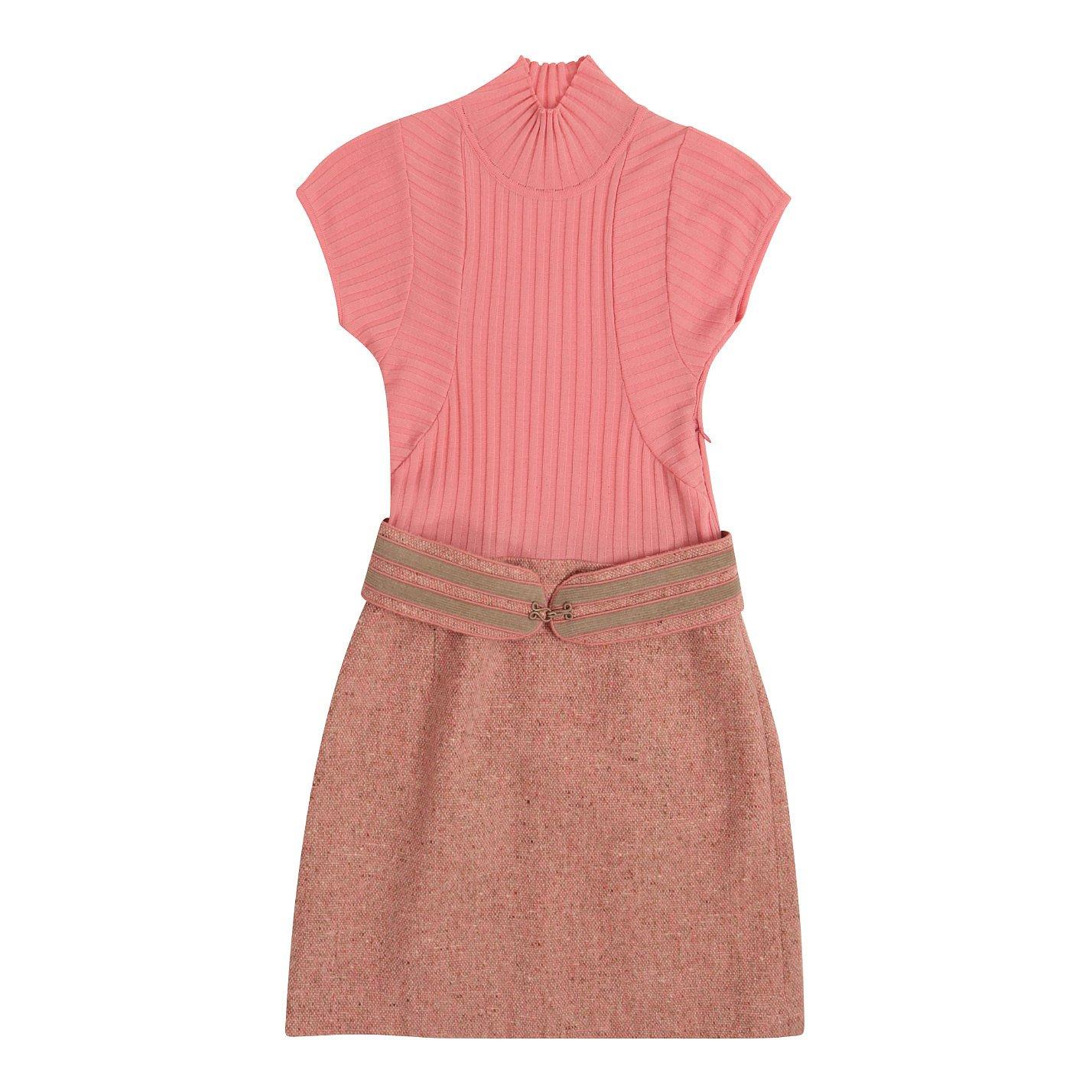 Paule Ka Belted Knit Dress