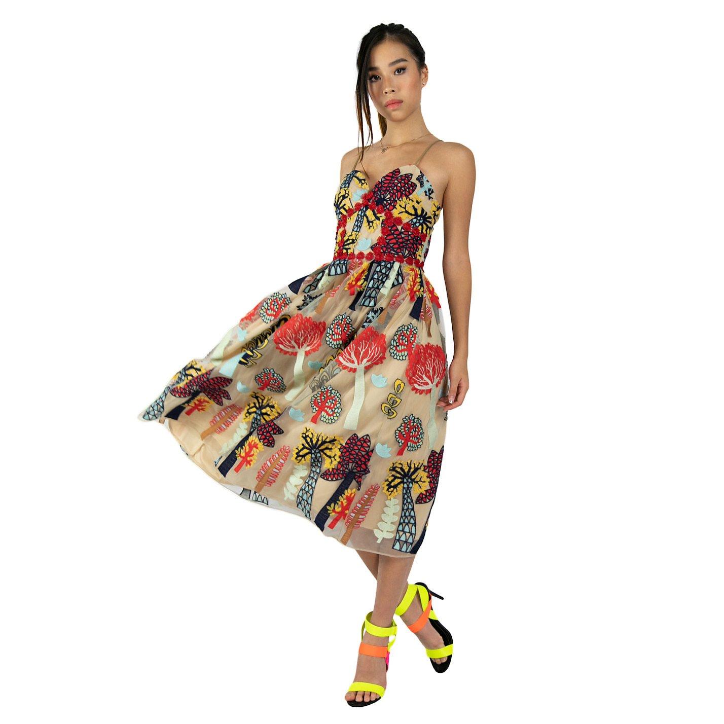 Syra J Fancy Lace Spaghetti Strap Dress