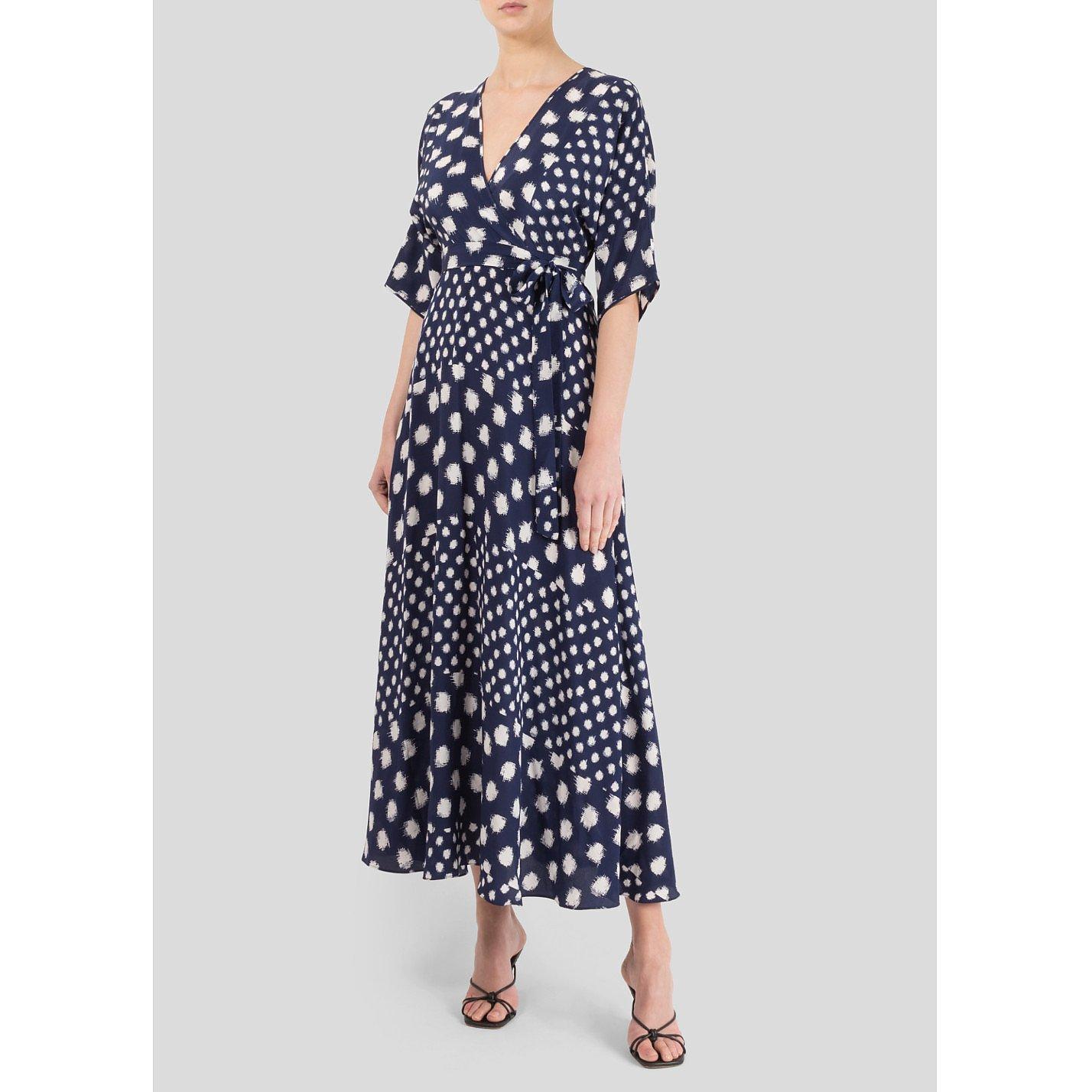 Diane von Furstenberg Polka Dot Midi Dress