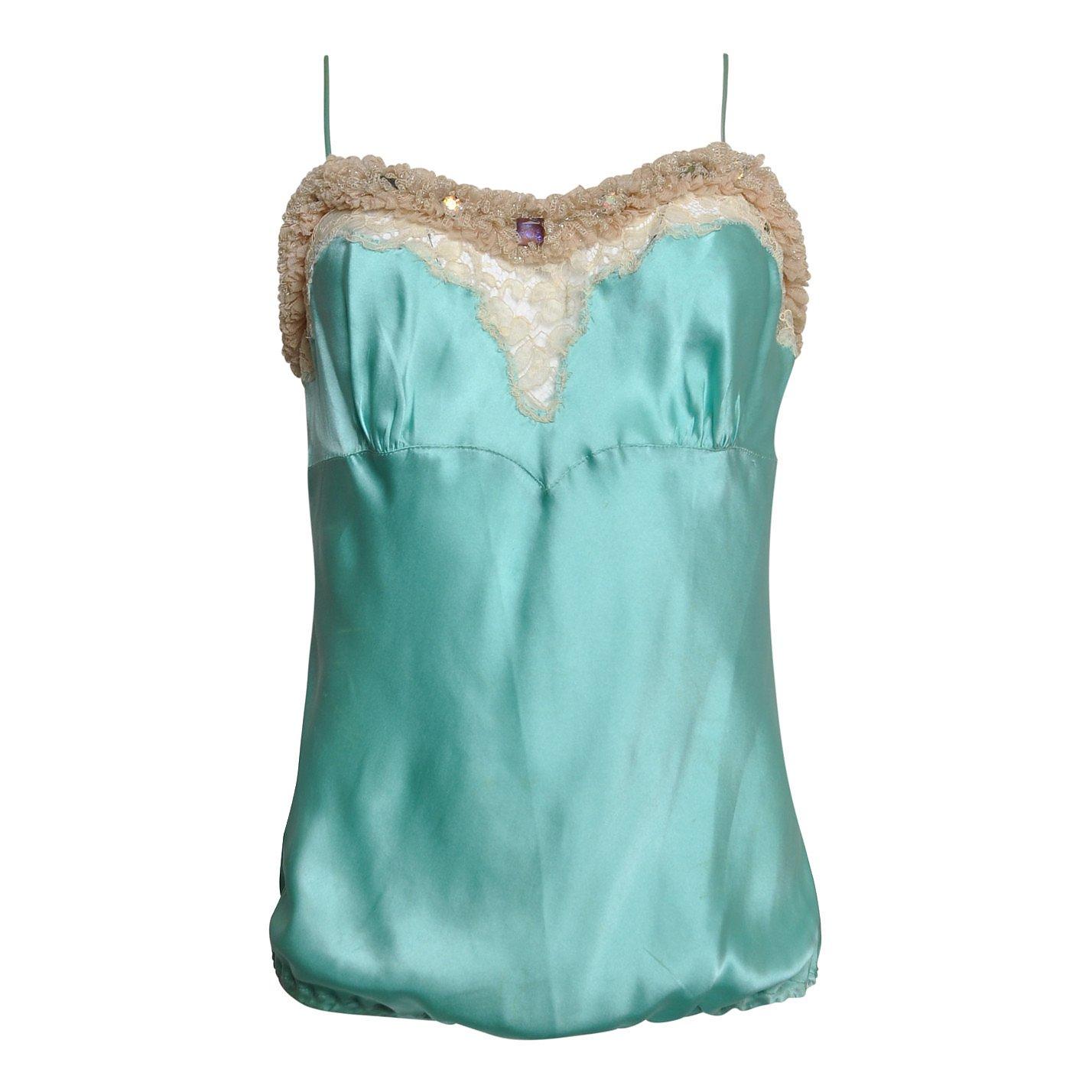 Ungaro Embellished Silk Camisole