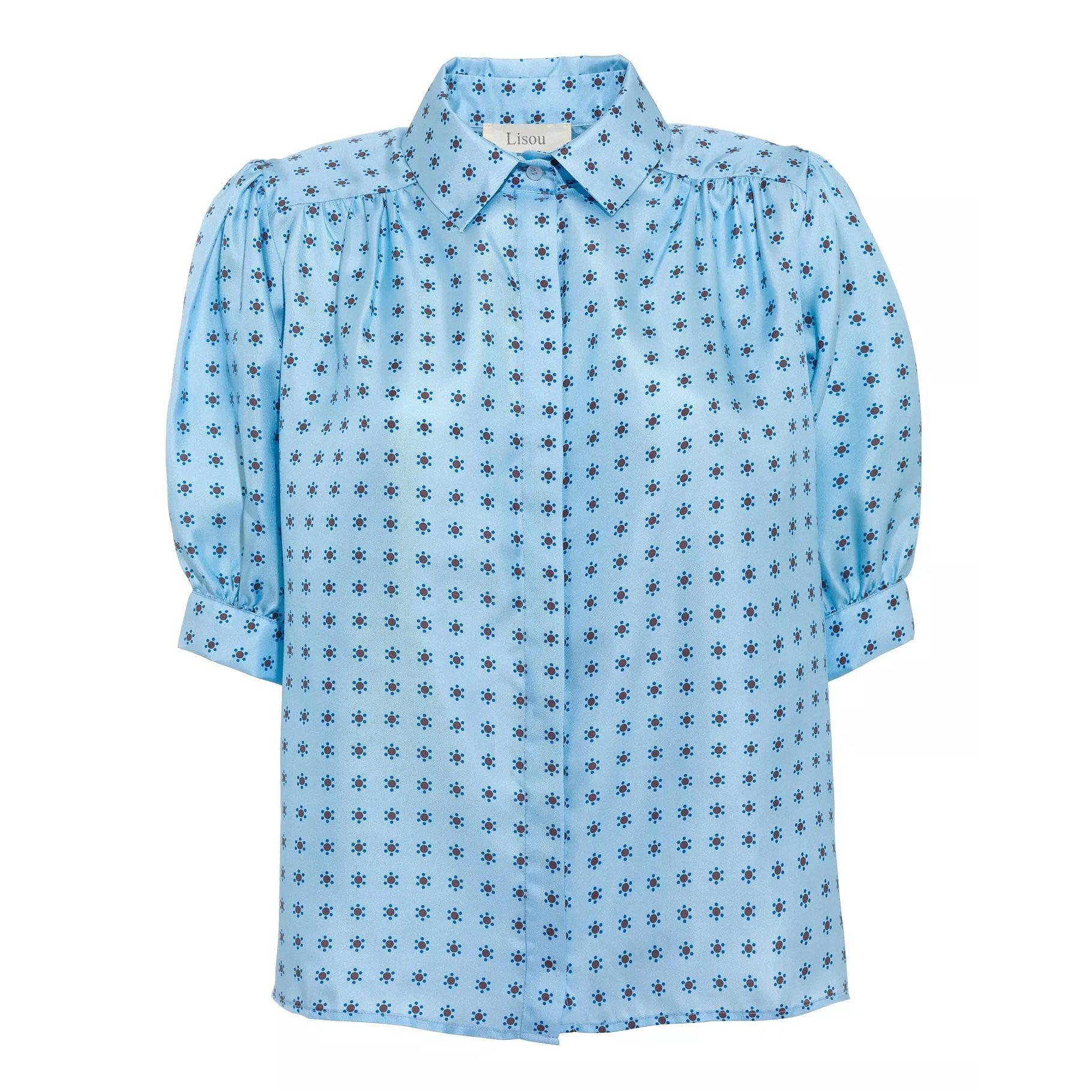 Lisou Betty Blue Comet Print Silk Shirt