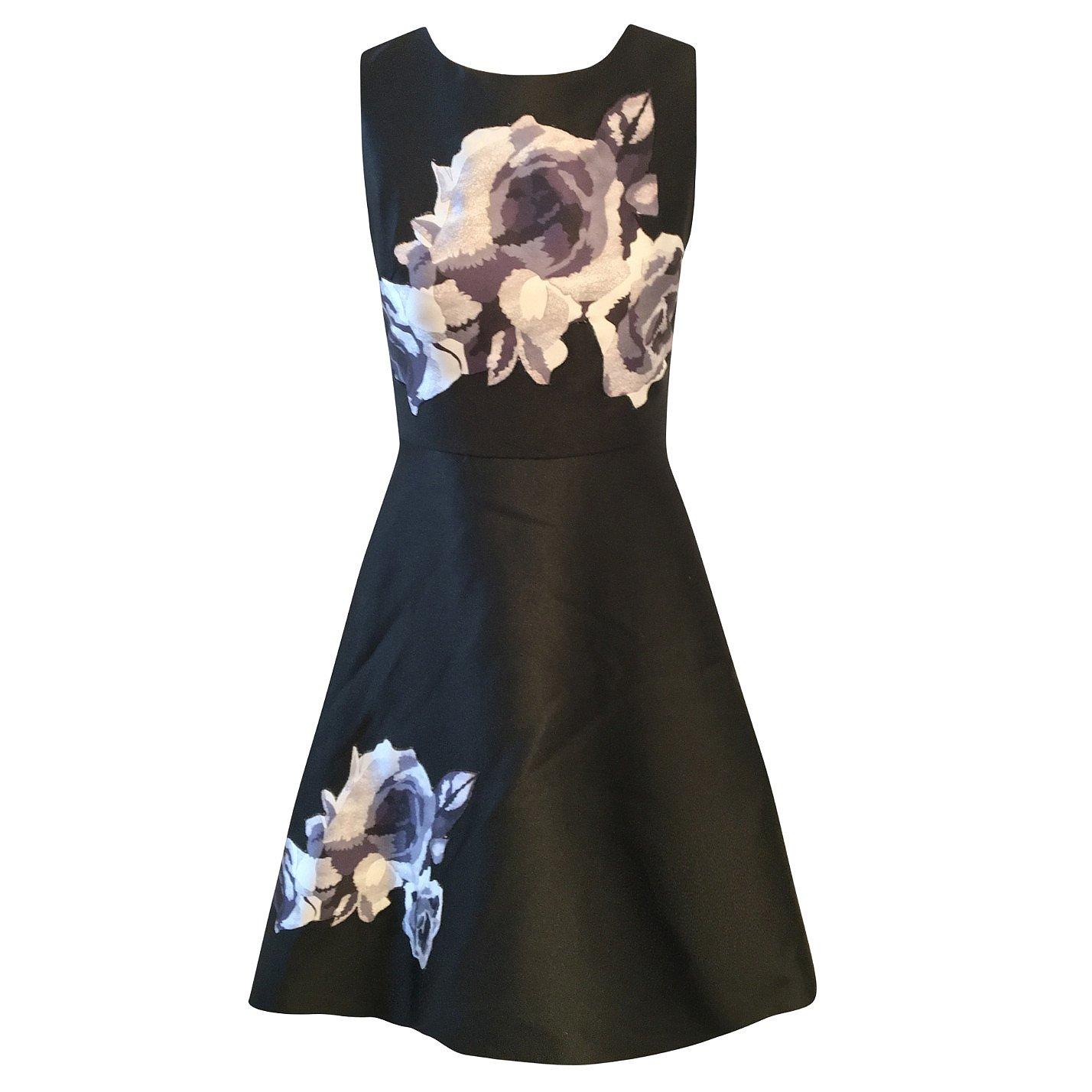 Dior Sleeveless Floral Satin Dress