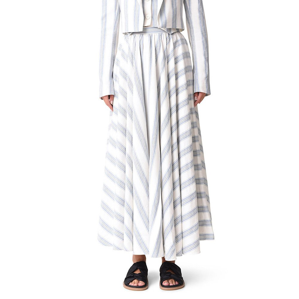 Noon By Noor Luther Silk Linen Skirt