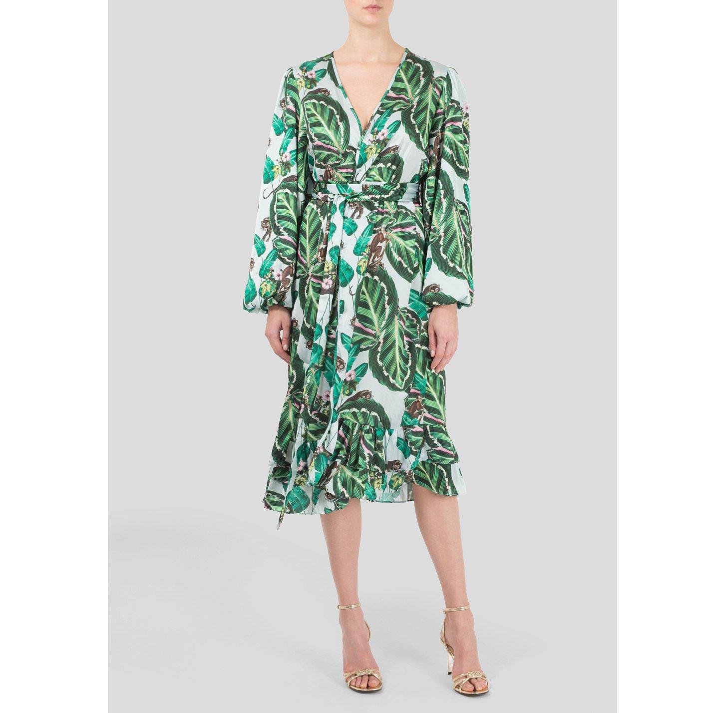 The Latin Runway Amazonia Print Wrap Dress
