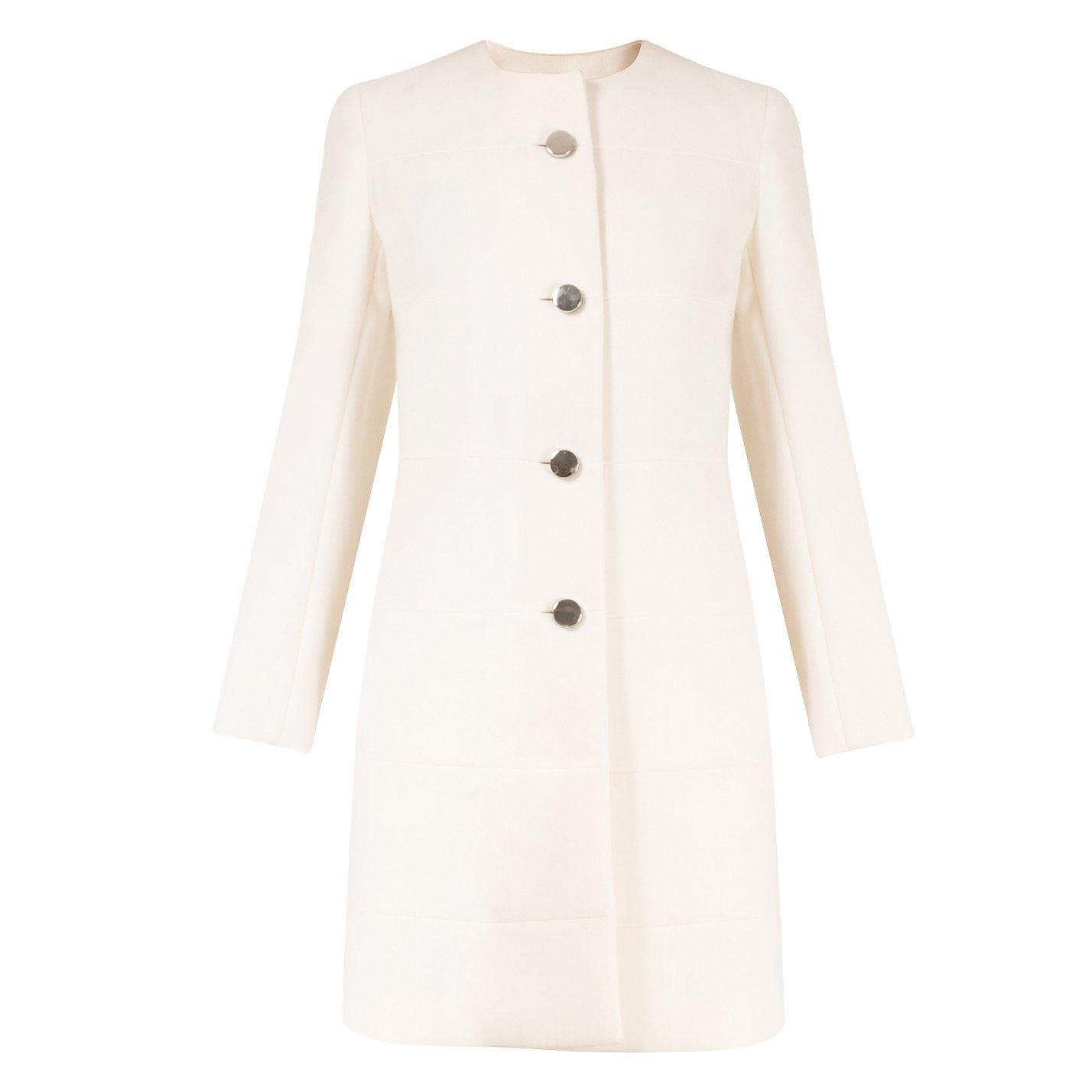 PRADA Collarless Wool Coat