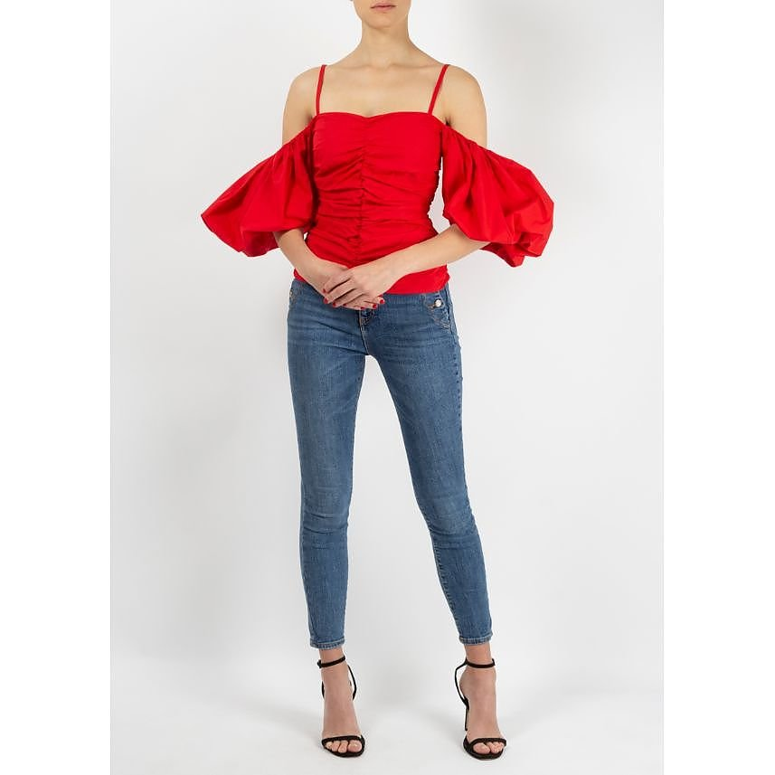 Isa Arfen Ruched Off The Shoulder Top