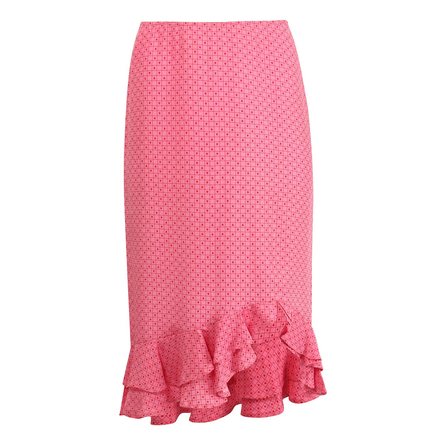 Betsey Johnson Heart Print Ruffle Skirt