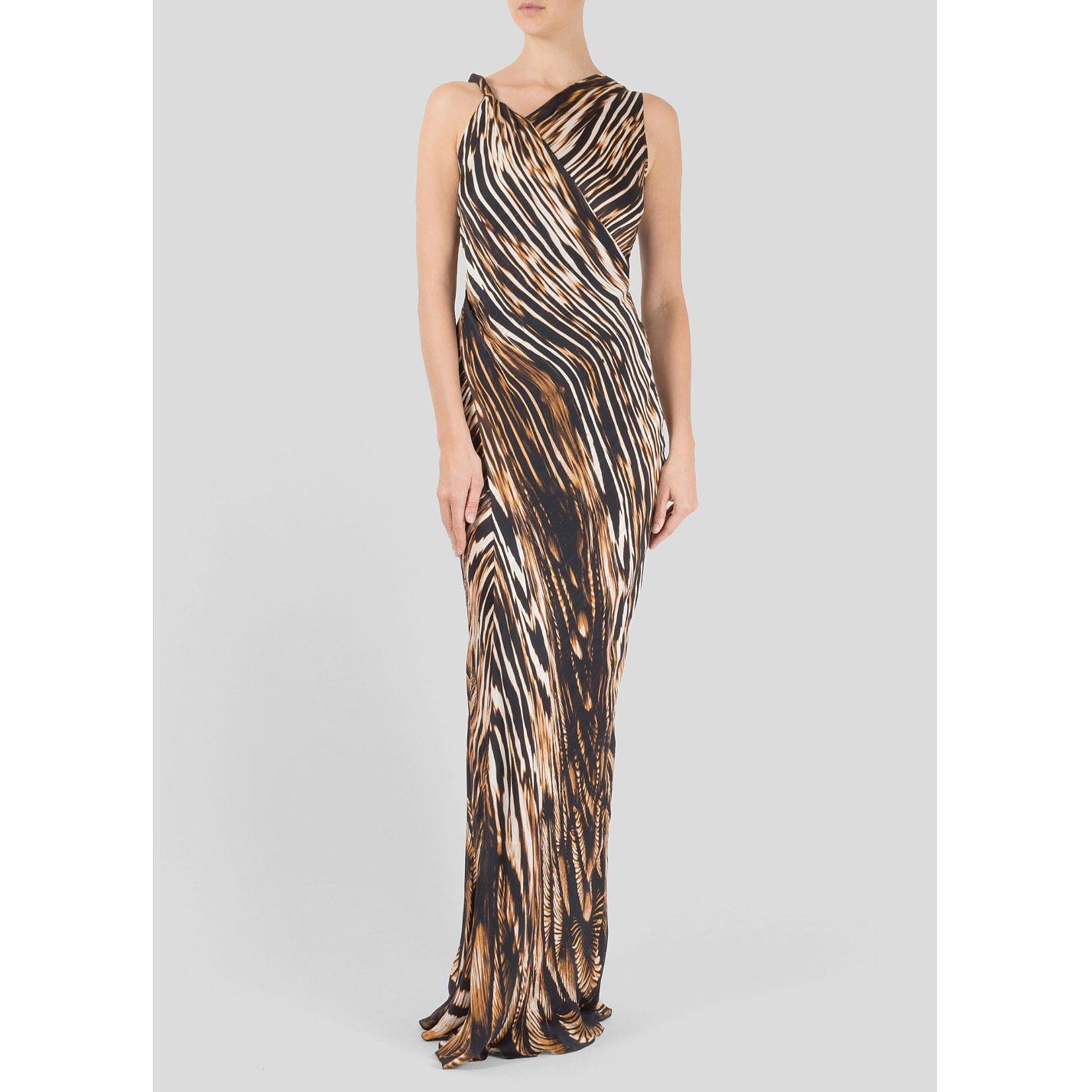Amanda Wakeley Silk Safari Print Dress