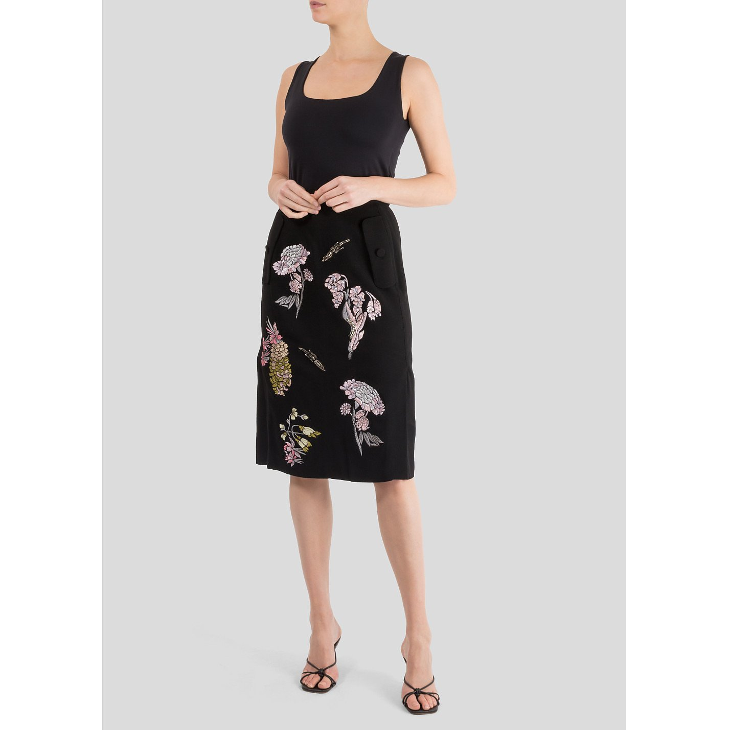 Markus Lupfer Holly Wild Utopia Embroidered Skirt