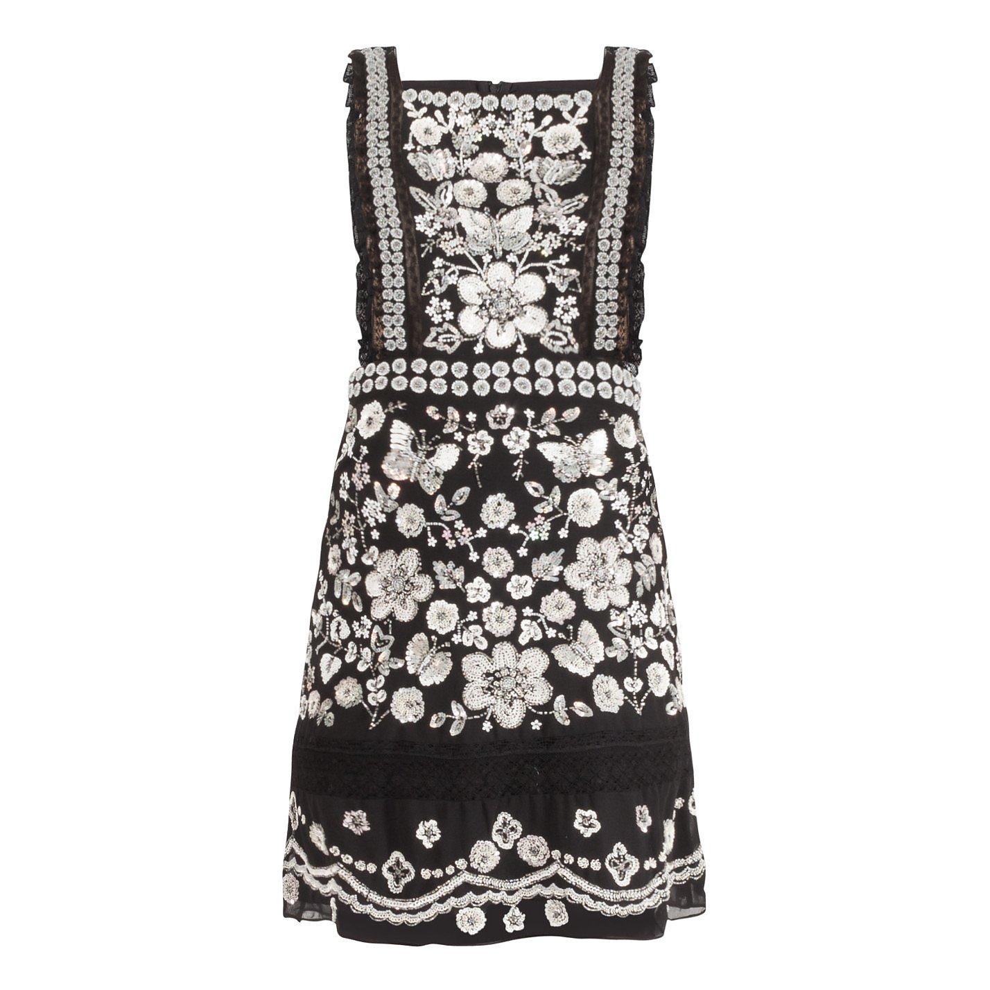 Needle & Thread Embellished Bib Mini Dress