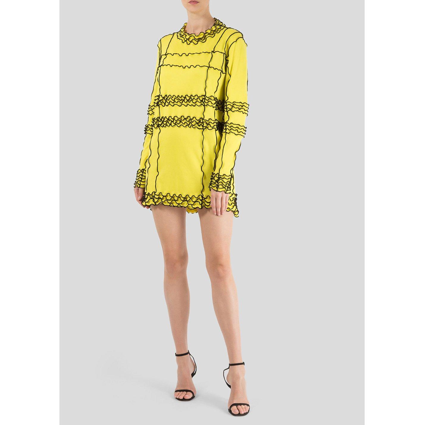Minnanhui Neon Ruffle Dress