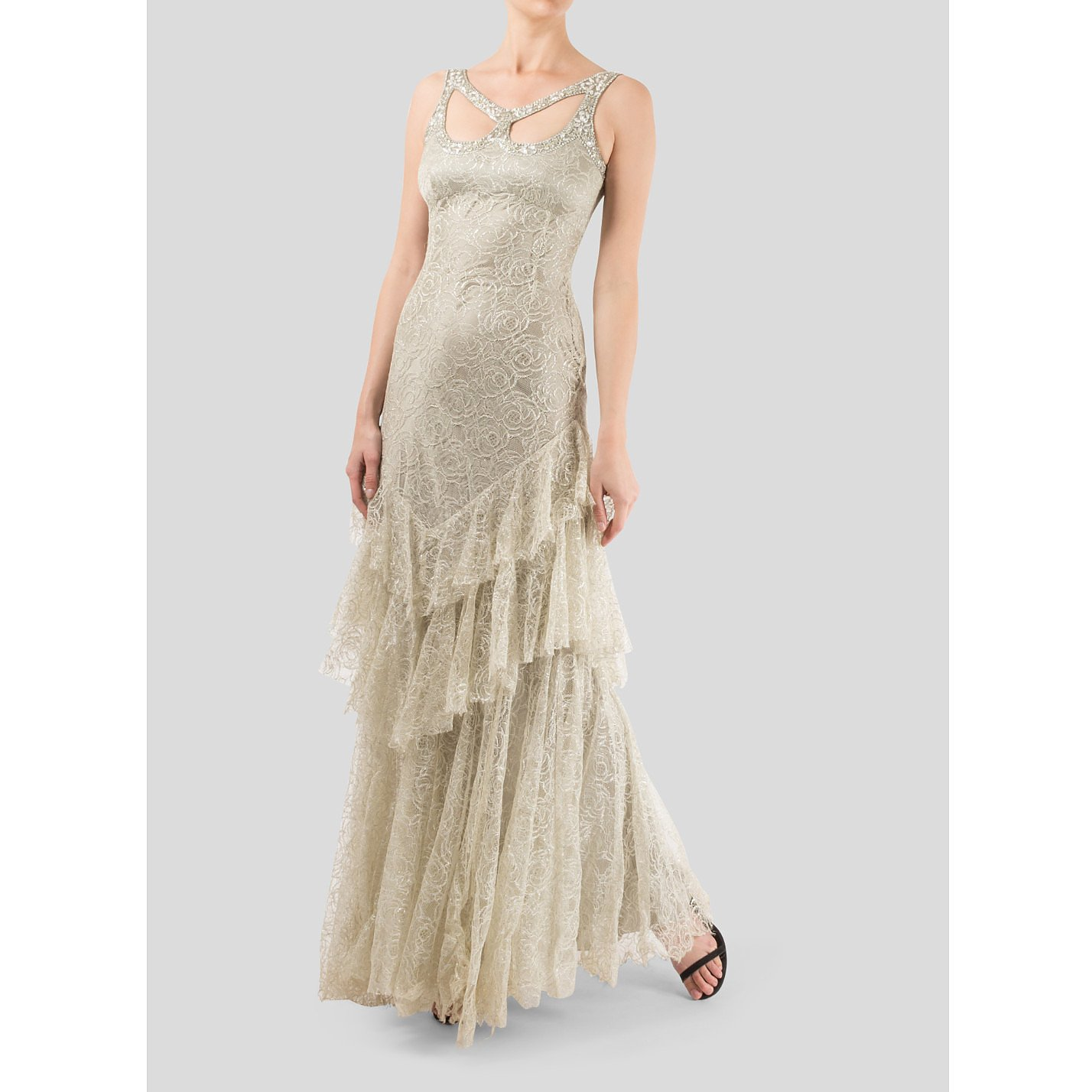Jenny Packham Lace Gown With Crystal Embellishments