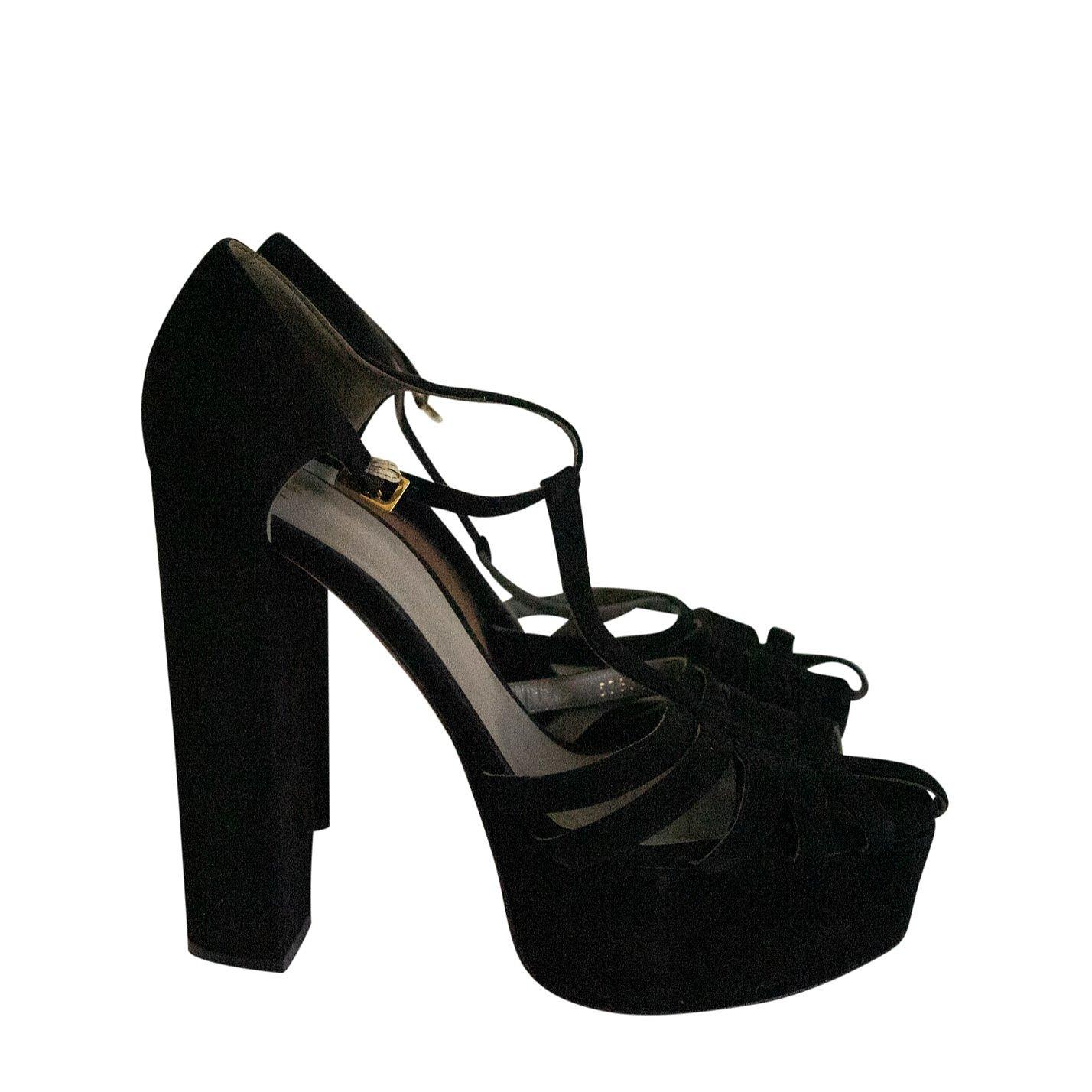 Gina Suede Platform Sandals
