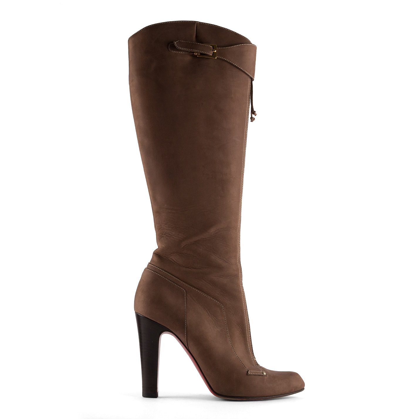 Christian Louboutin Suede Saddle Boots