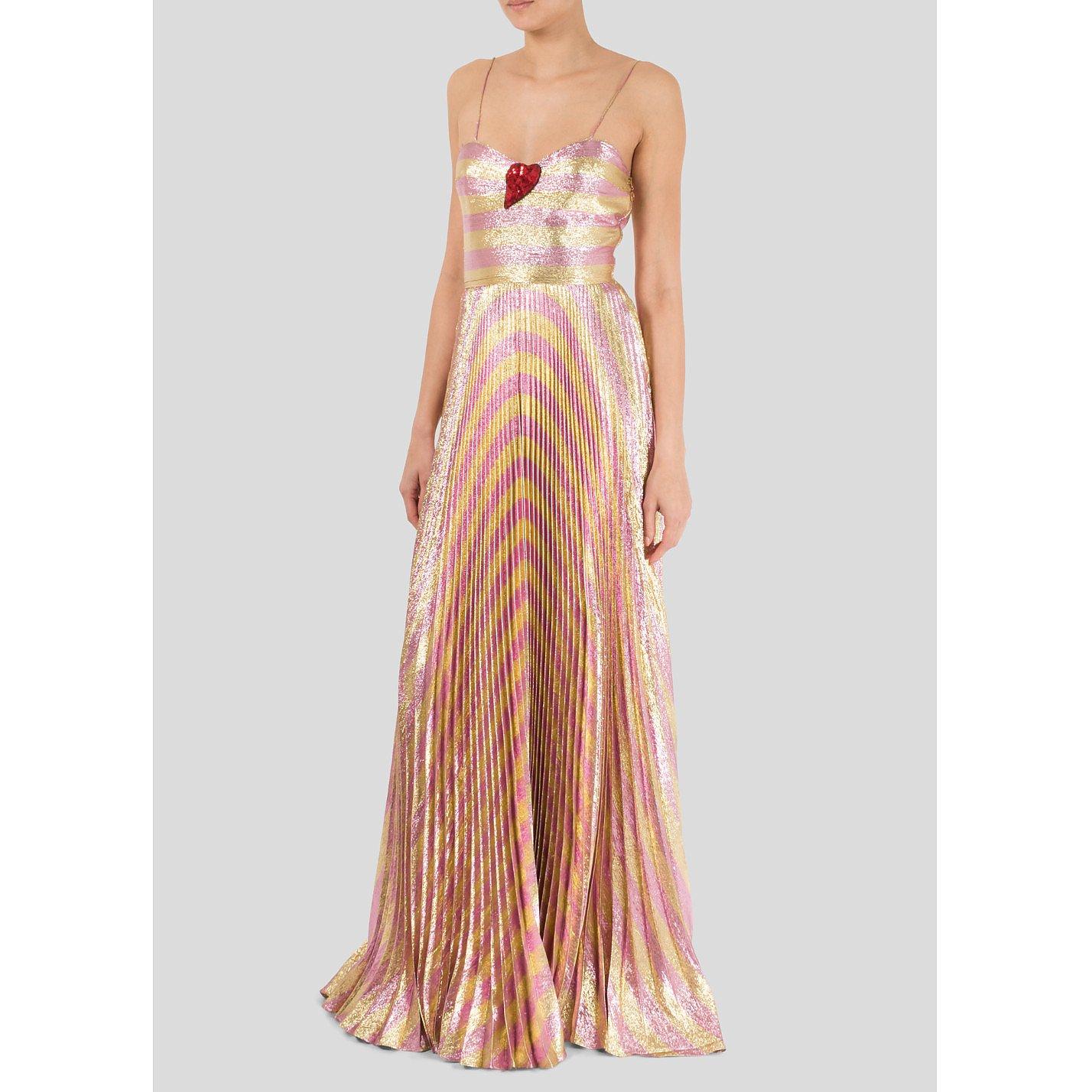Gucci Baiadera Striped Lurex Gown