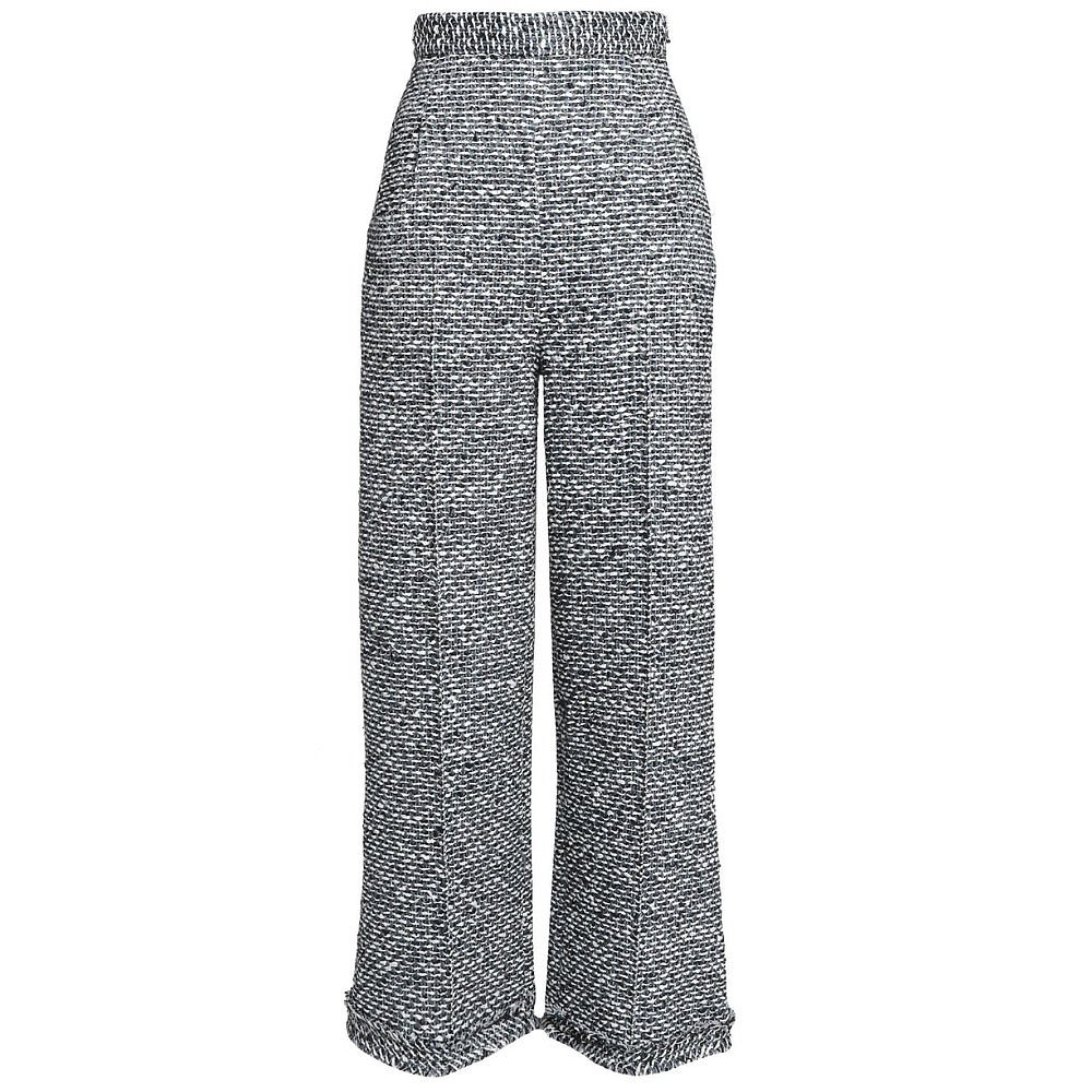 Roland Mouret Frayed Tweed Flared Trousers