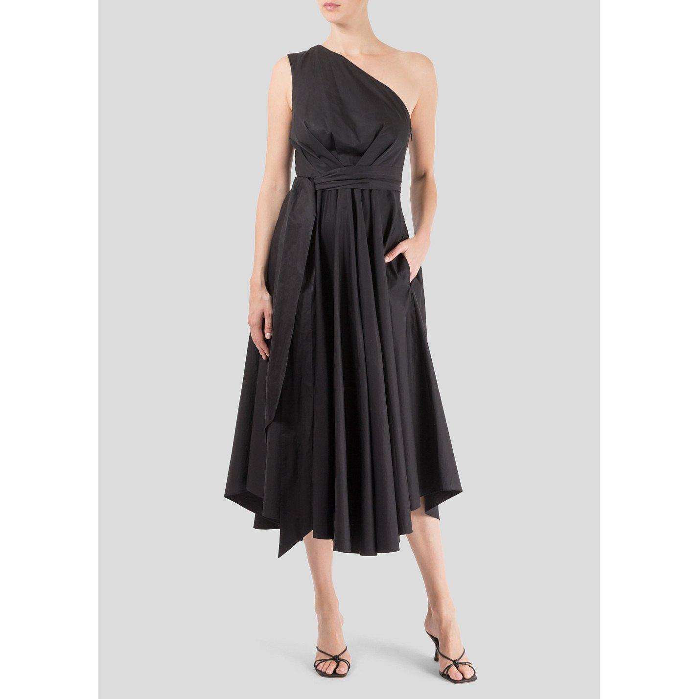Tibi One Shoulder Midi Dress