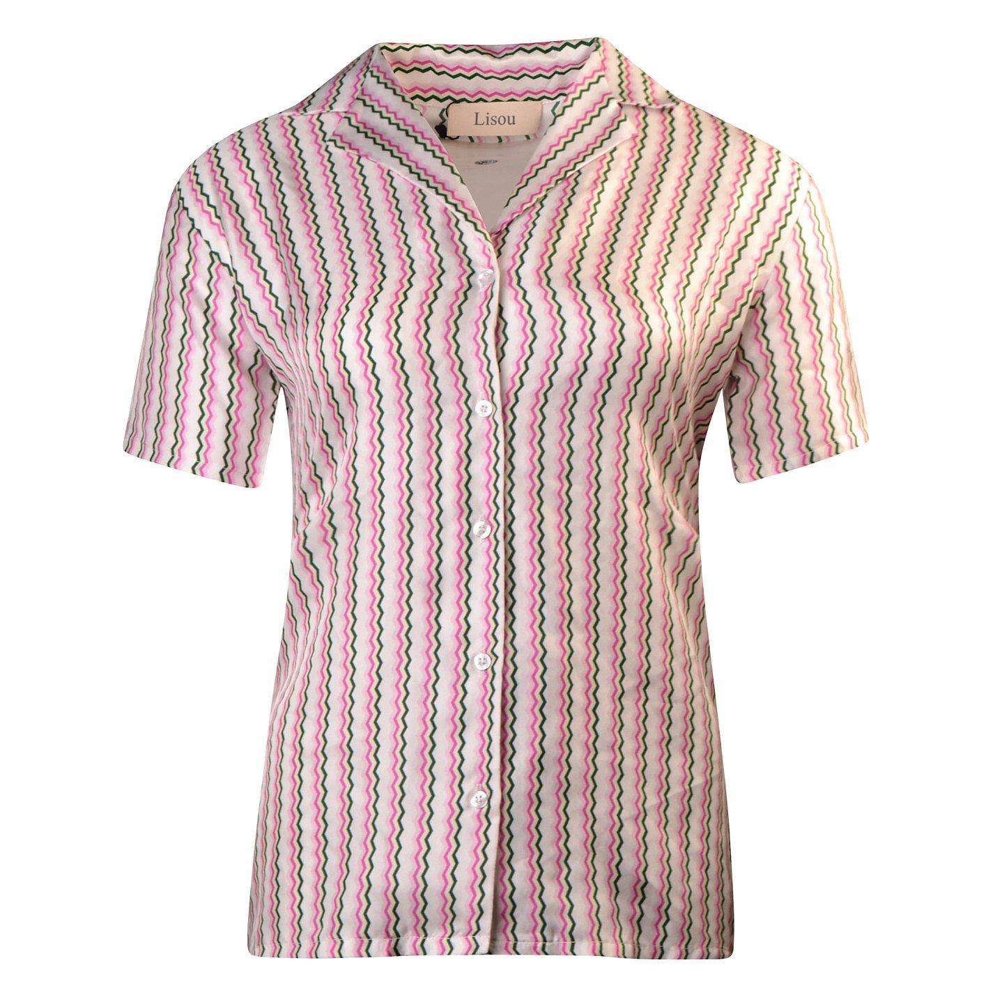 Lisou Pastel Zig Zag Short Sleeve Shirt Victoire