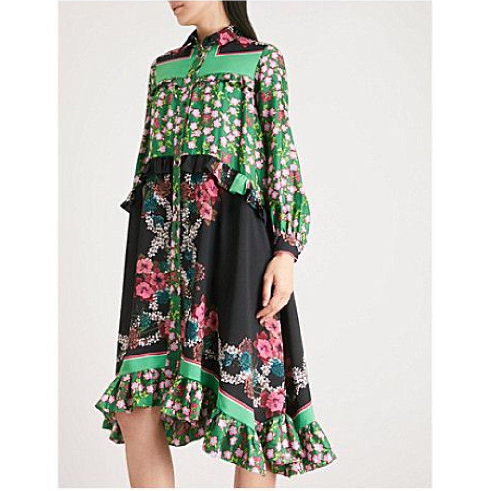 Sandro Floral Panelled Dress
