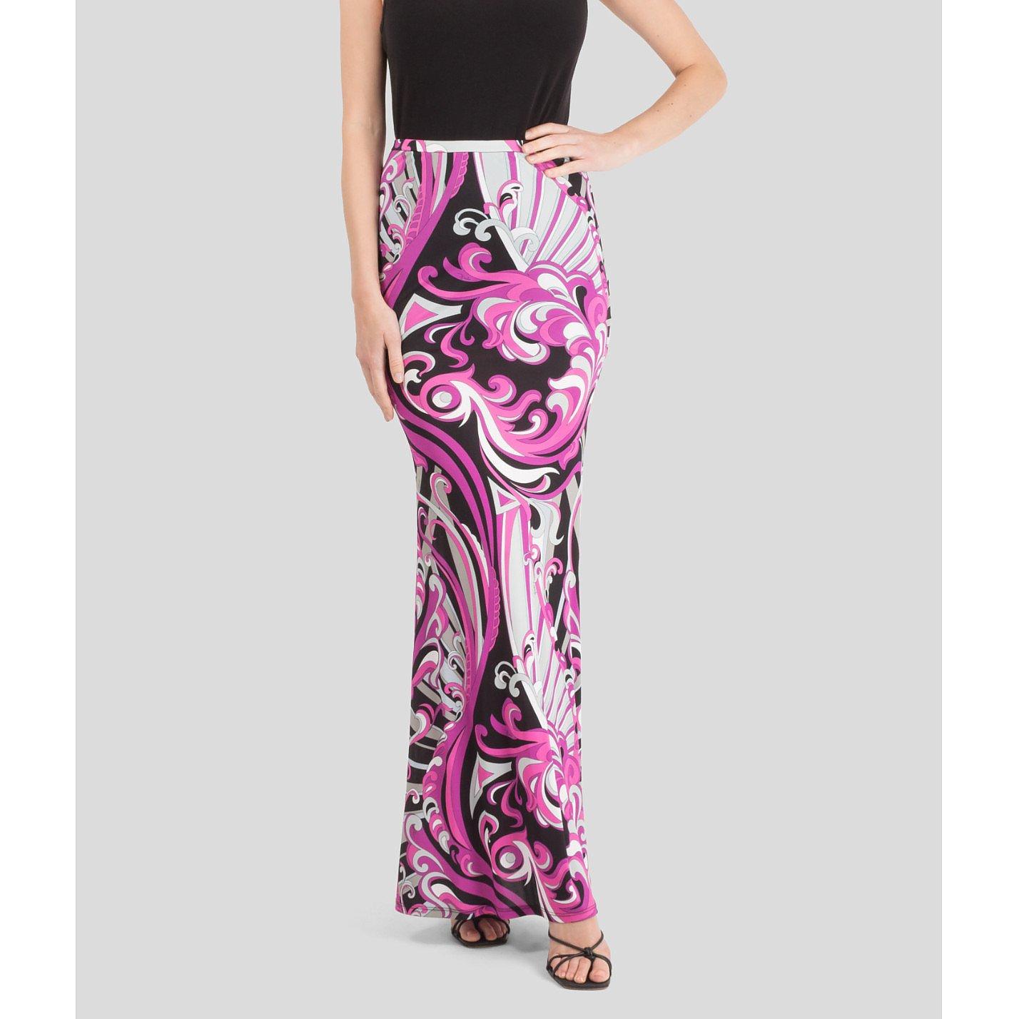 Emilio Pucci Multicolour Printed Maxi Skirt