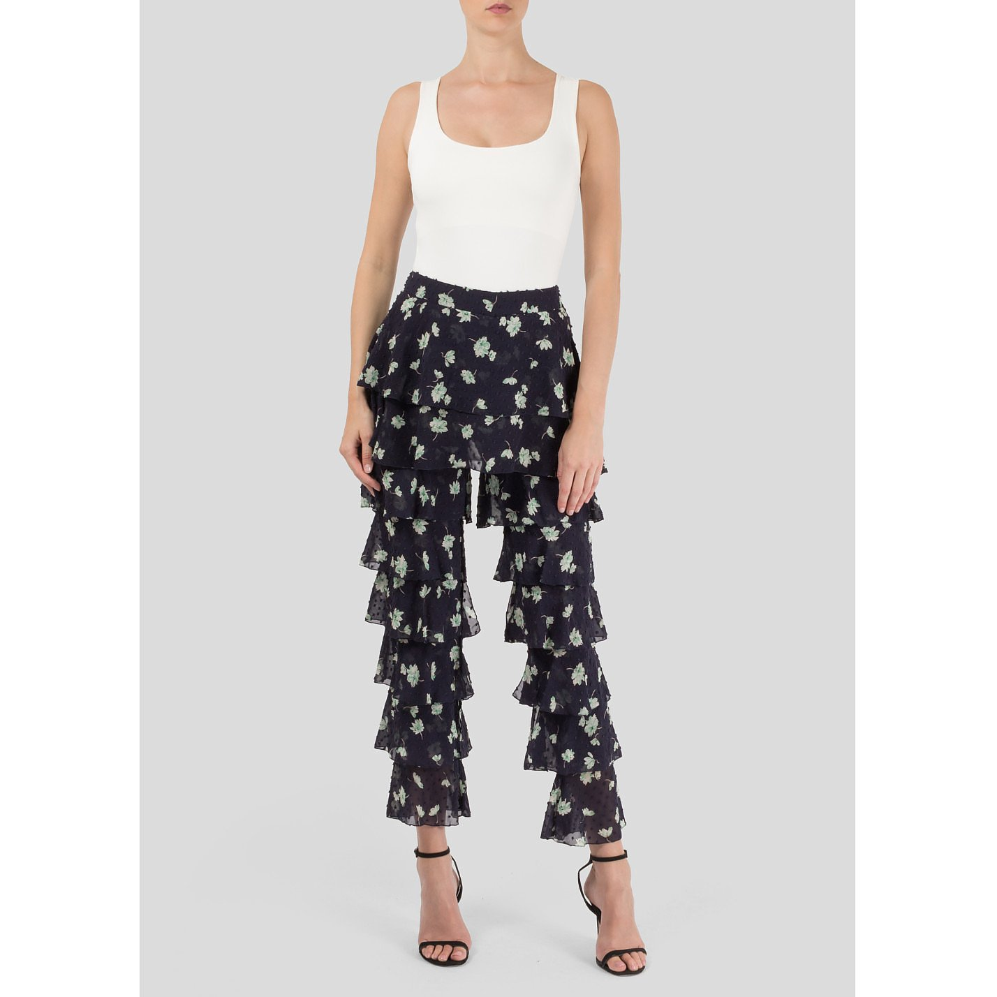 Starsica Floral Print Frill Trousers
