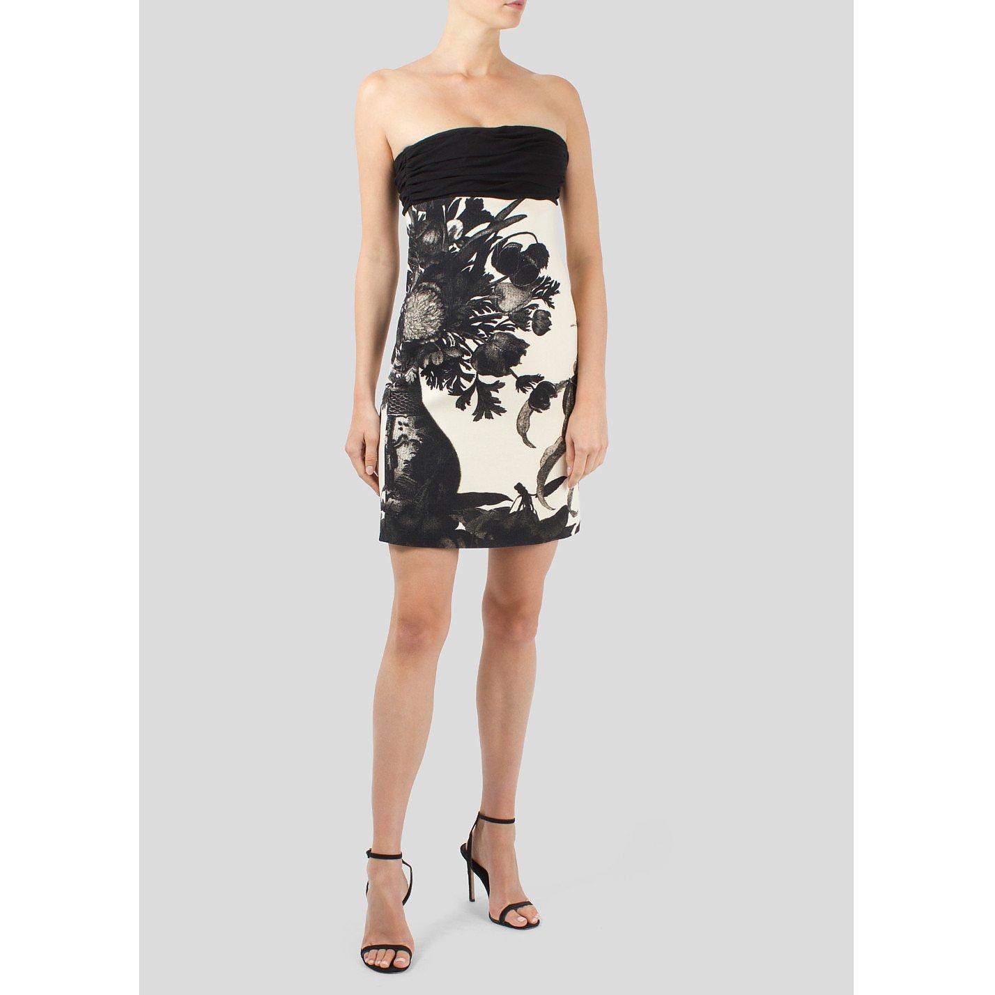 Giambattista Valli Strapless Floral Mini Dress