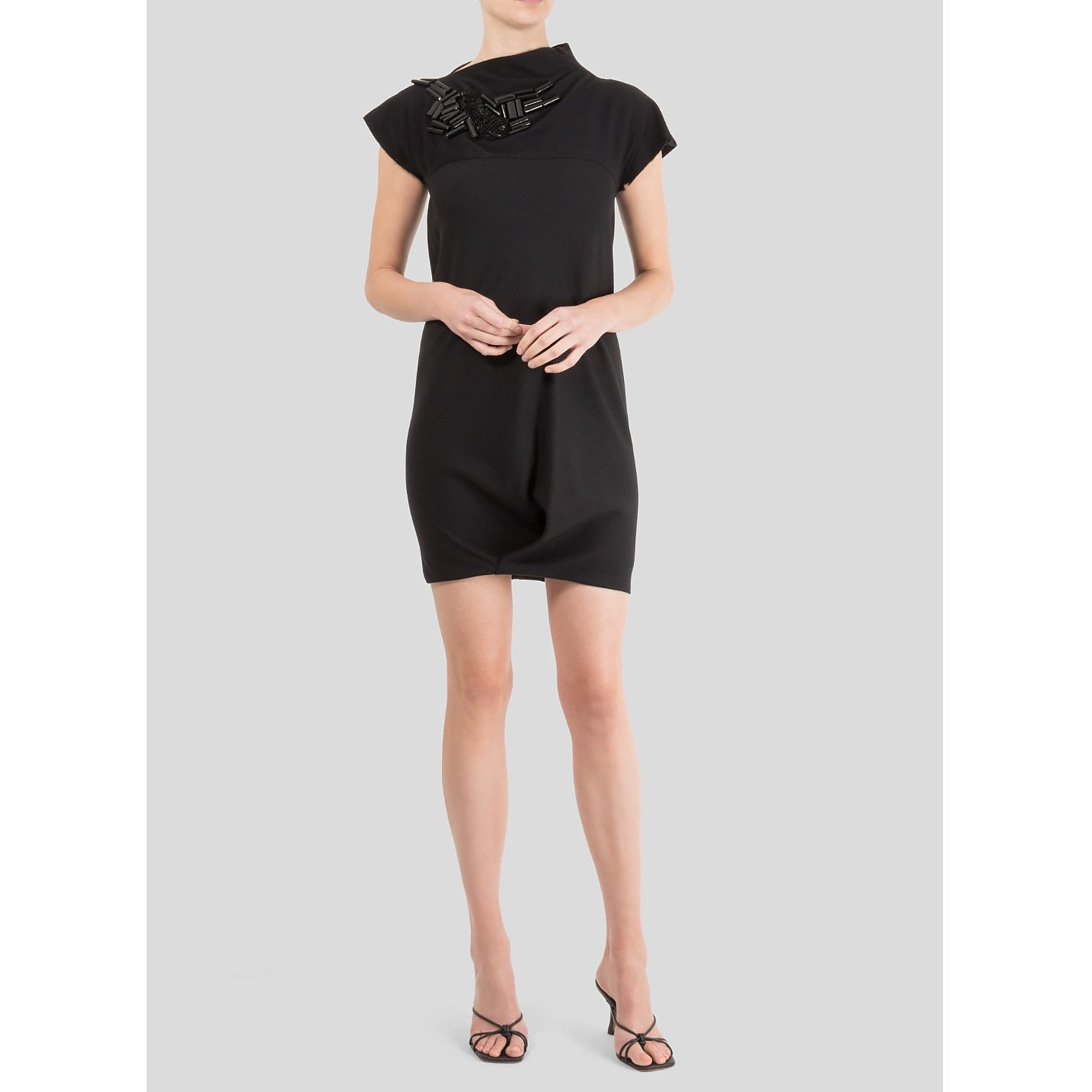 Victoria Beckham Mini Dress With Neckline Embroidery