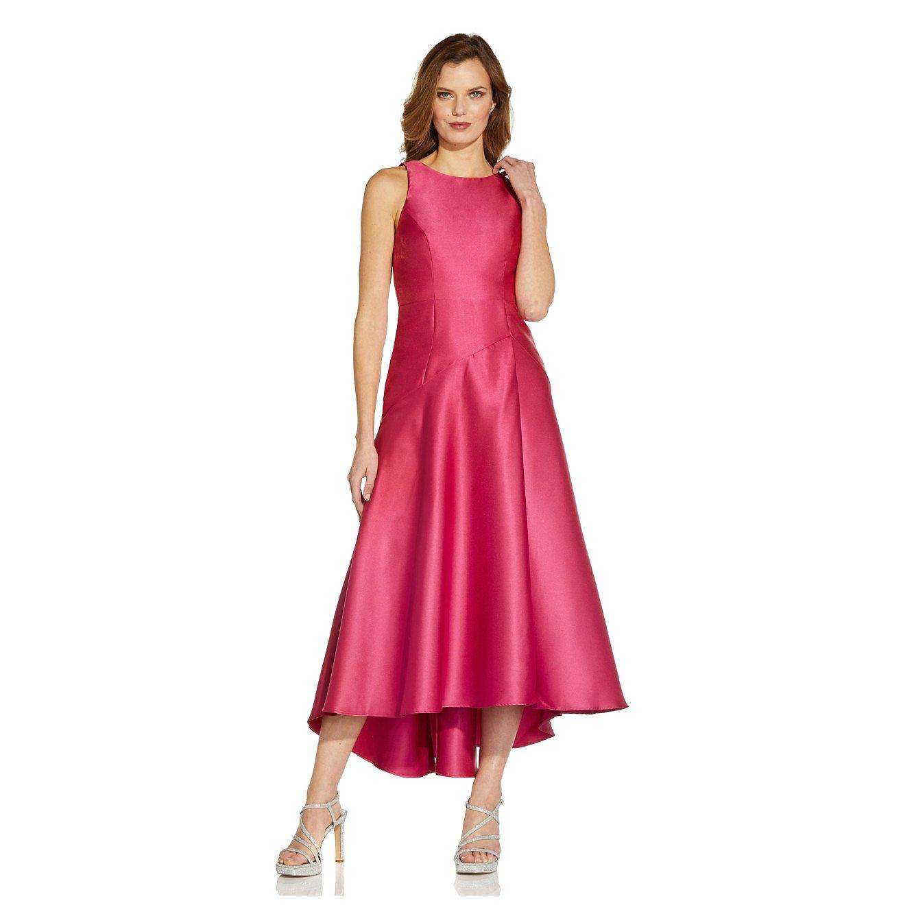 Adrianna Papell Mikado Drop Waist Gown