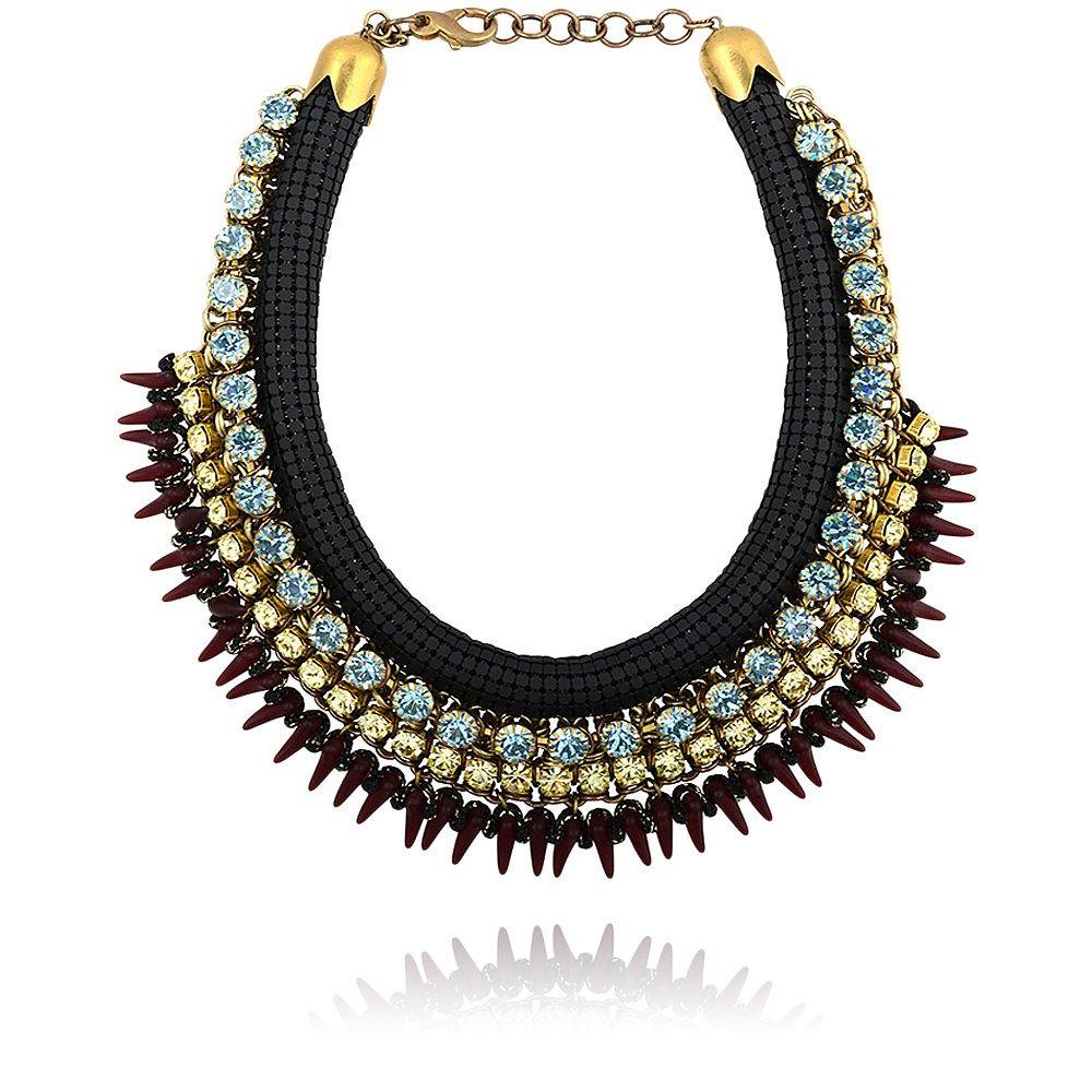 Sveva Andromaca Necklace in Black & Blue