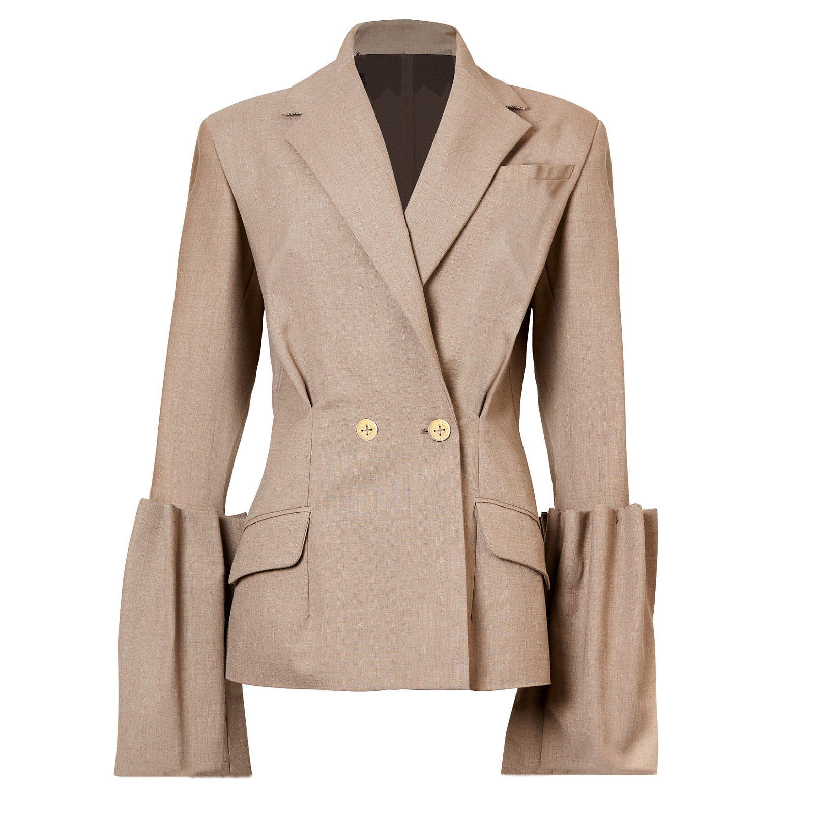 Maison Bent Jacket With Gathered Sleeves