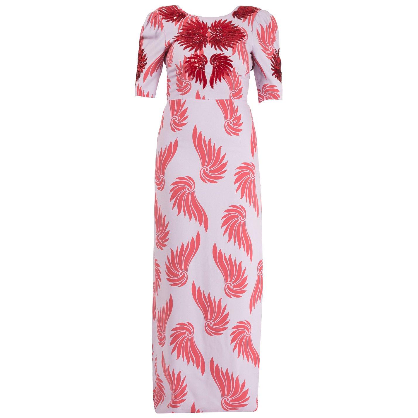 DRIES VAN NOTEN Runway Printed Sequinned Gown