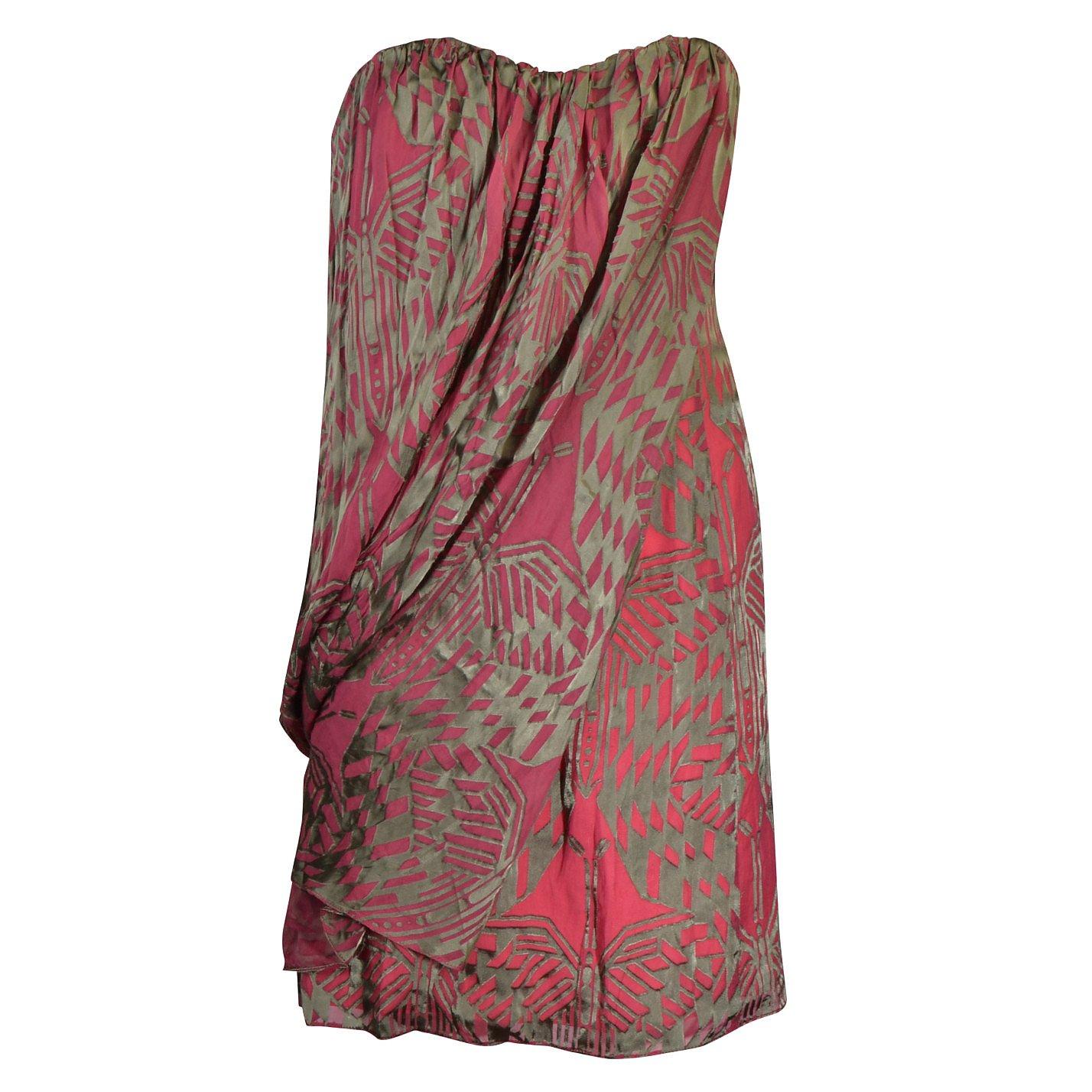 Matthew Williamson Silk Corset Mini Dress