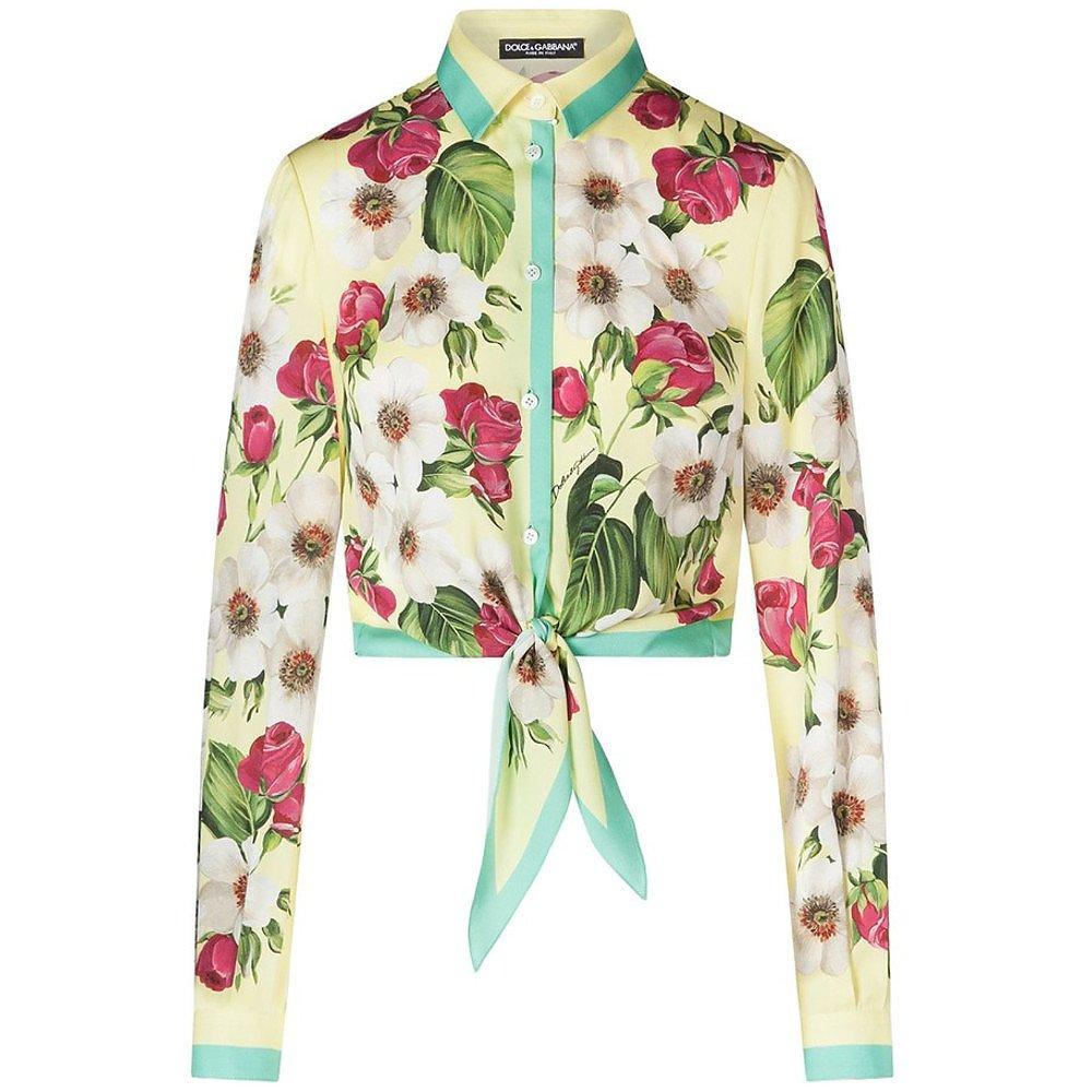DOLCE & GABBANA Floral Tie-Front Blouse