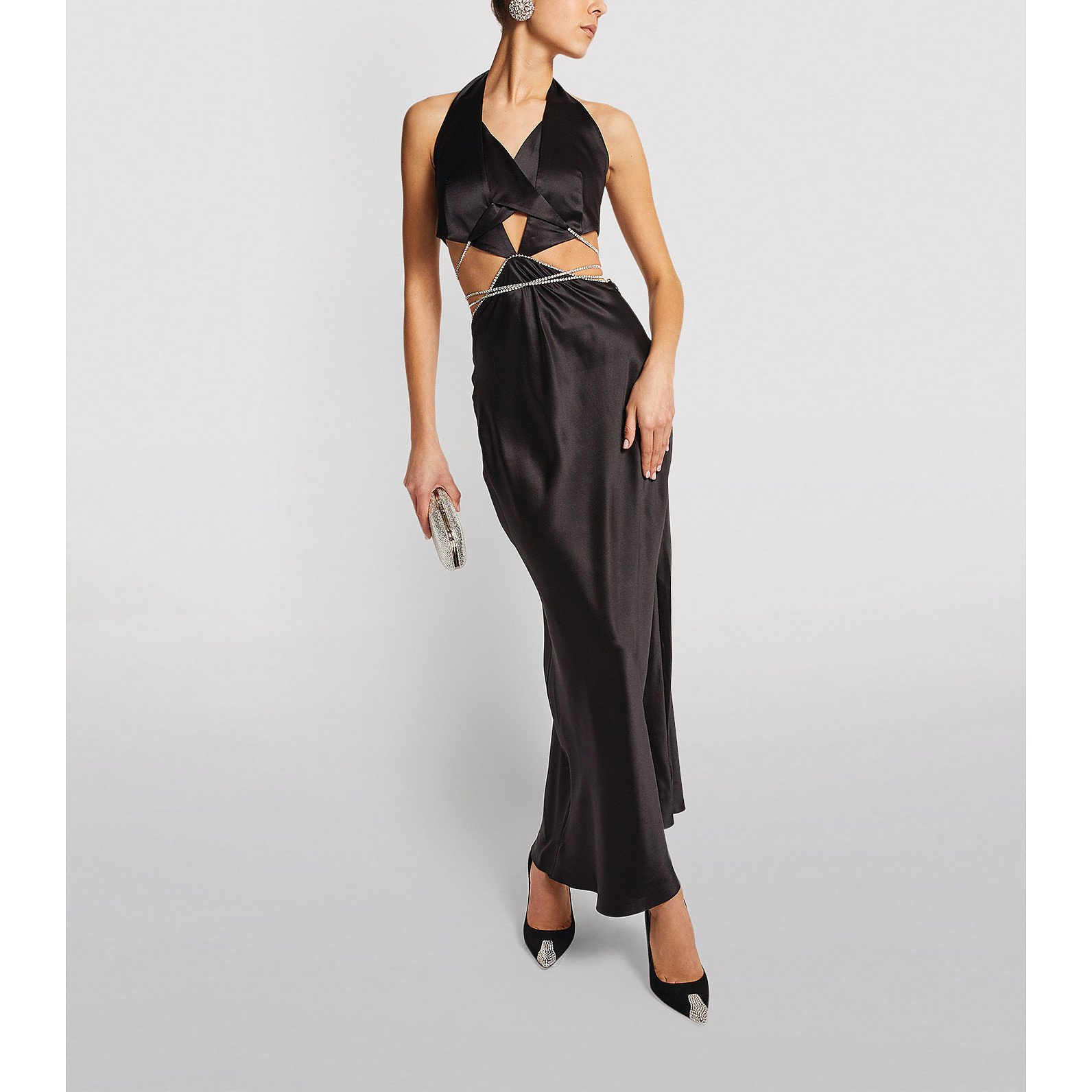 Michael Lo Sordo Alexa Crystal-Embellished Cut-Out Dress
