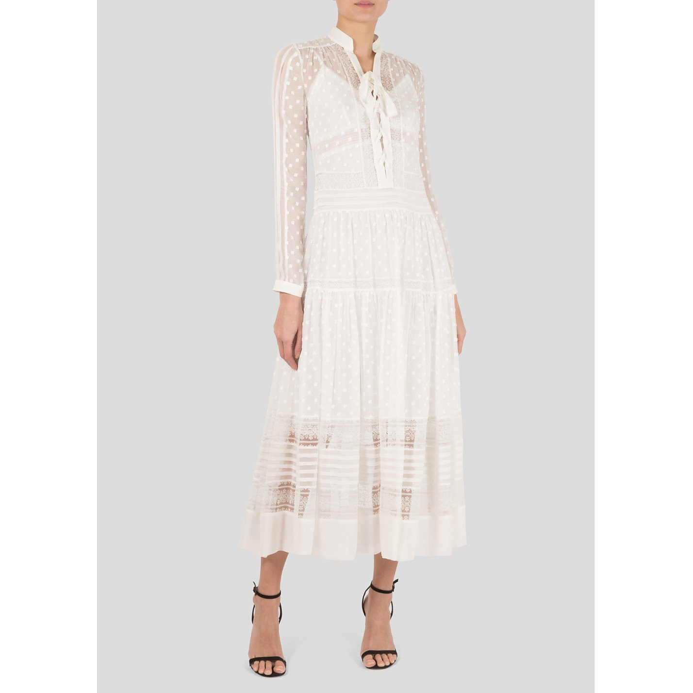 ZIMMERMANN Silk-Georgette Midi Dress