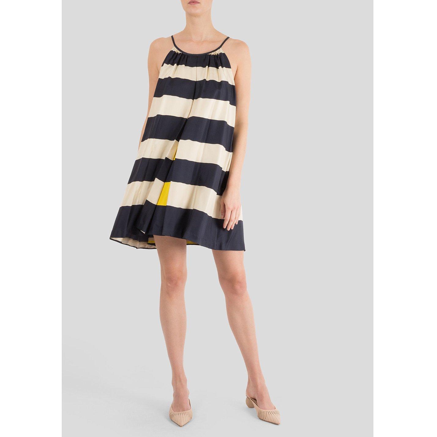 Marc Jacobs Striped Silk Dress