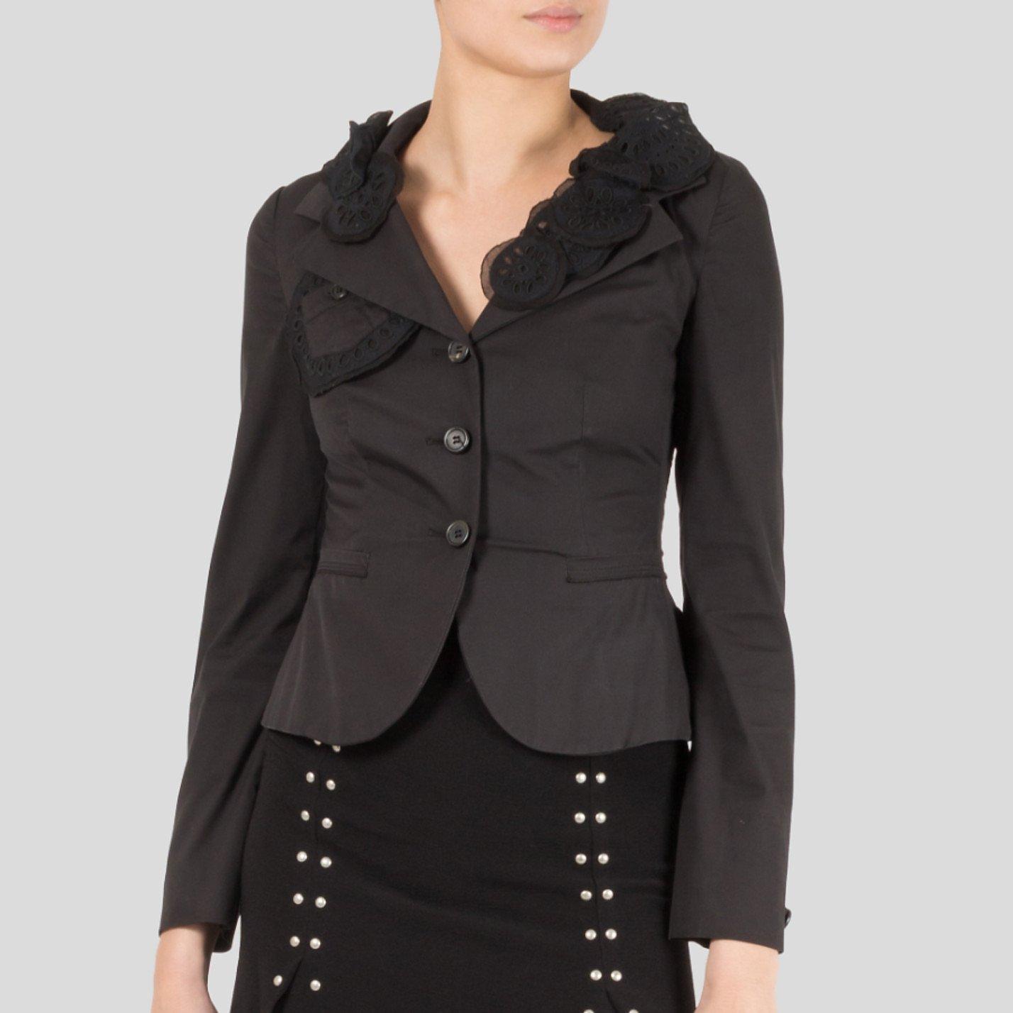 PRADA Embroidered Applique-Detail Blazer Jacket