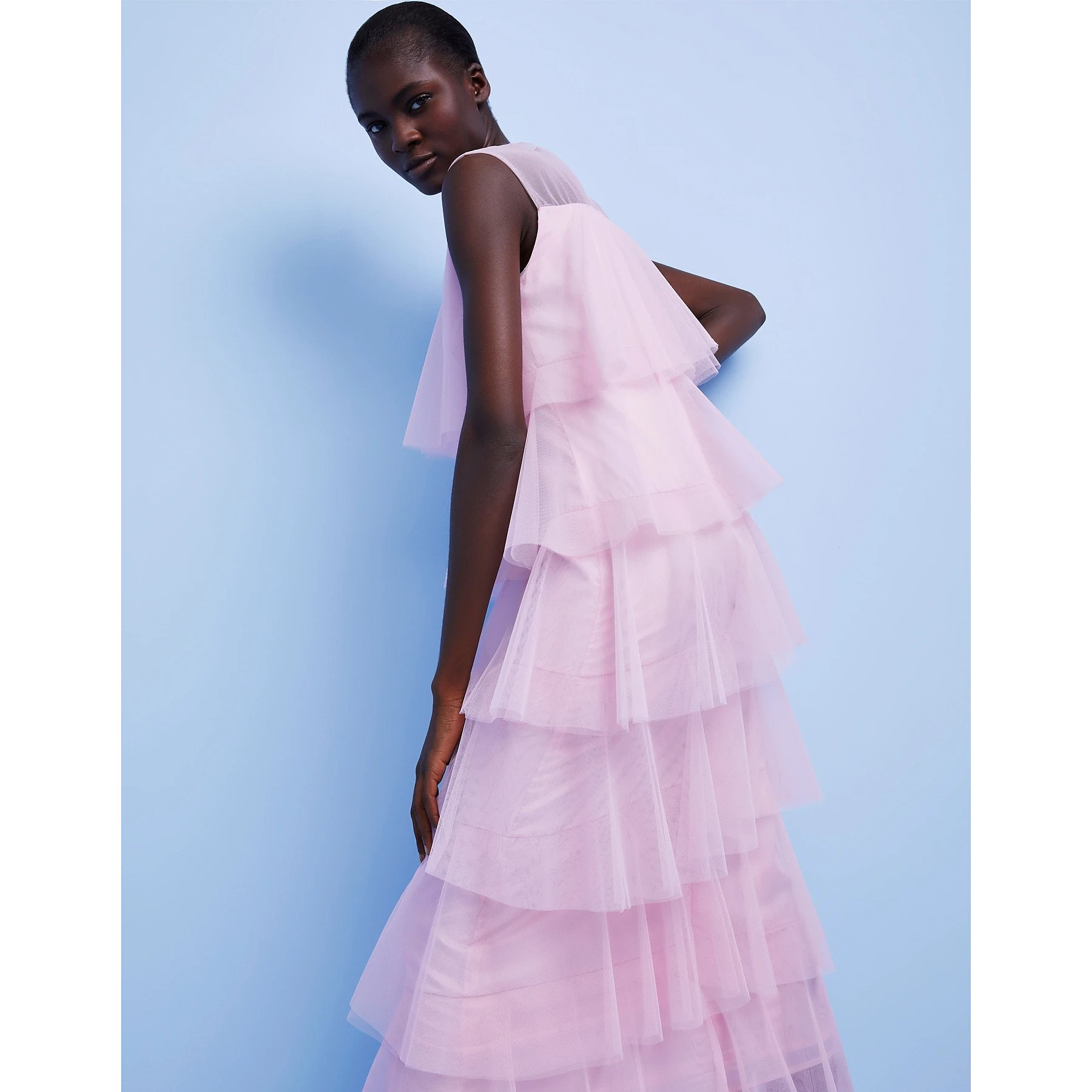 Lisou Tiered Maxi Dress With Tulle Layers