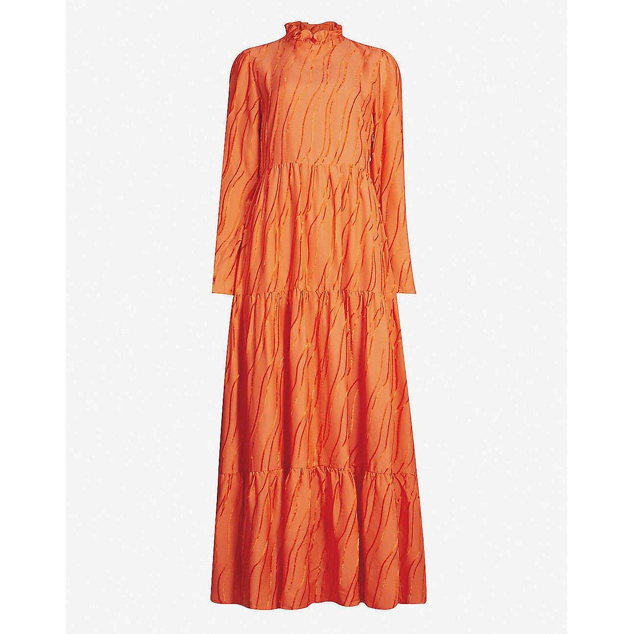 Stine Goya Judy Frilled-Collar Woven Dress