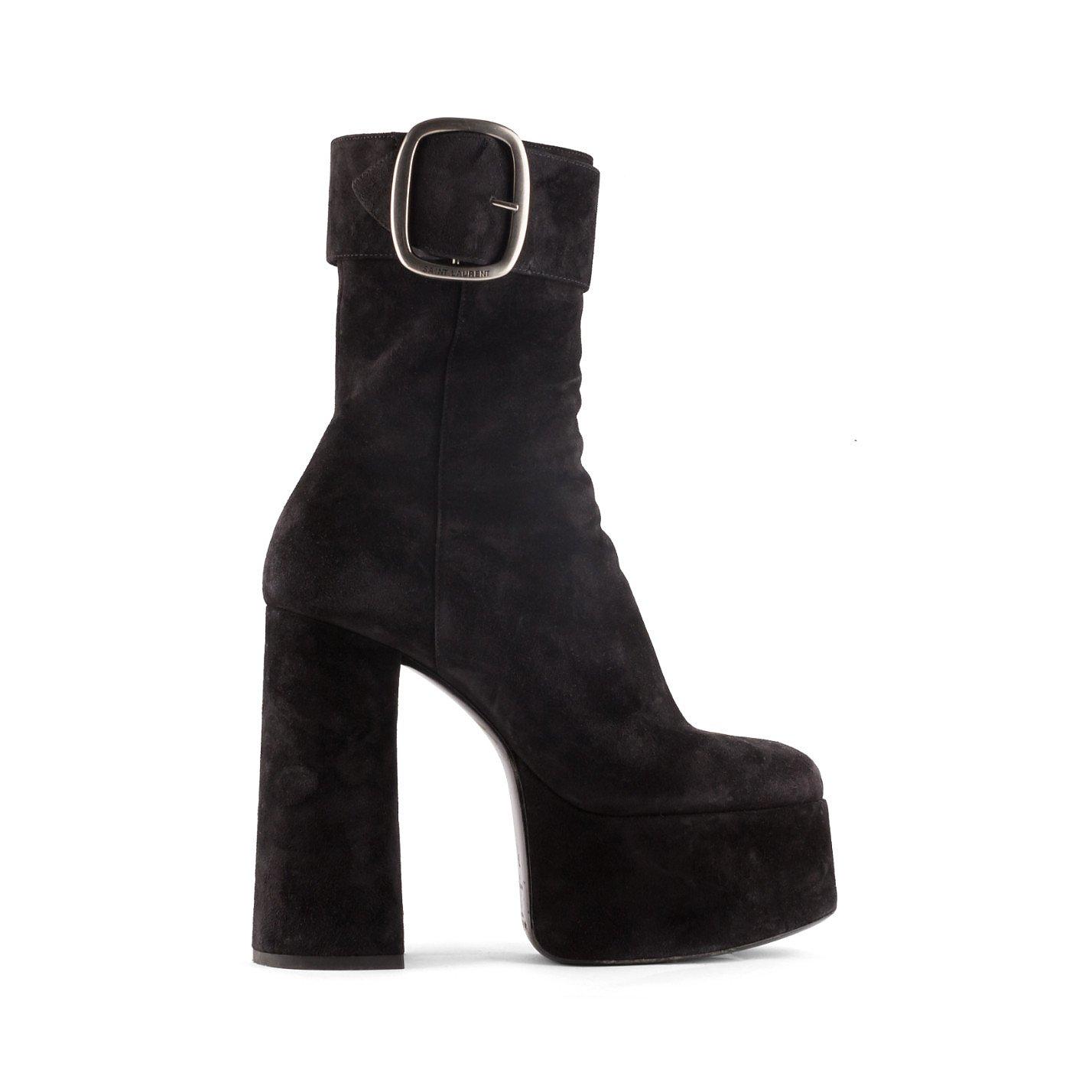 Saint Laurent Suede Billy Platform Boots
