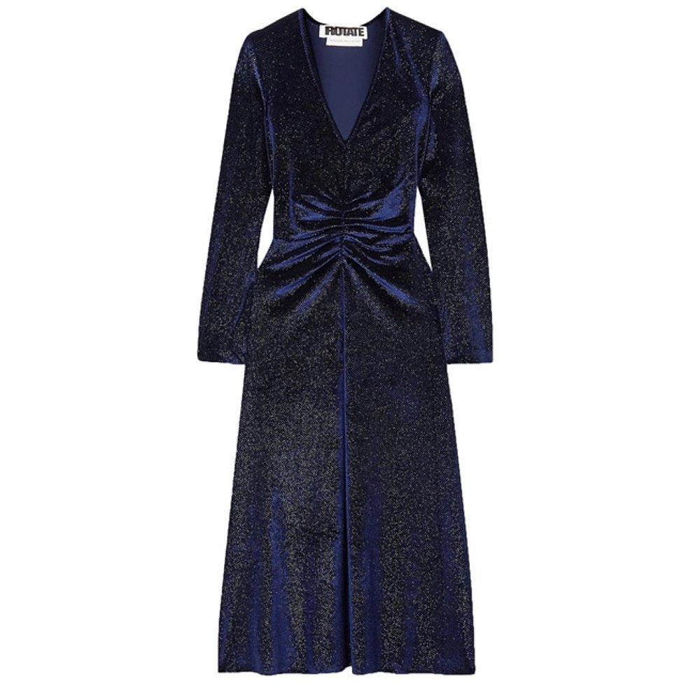 ROTATE Birger Christensen Number 7 Velvet Dress