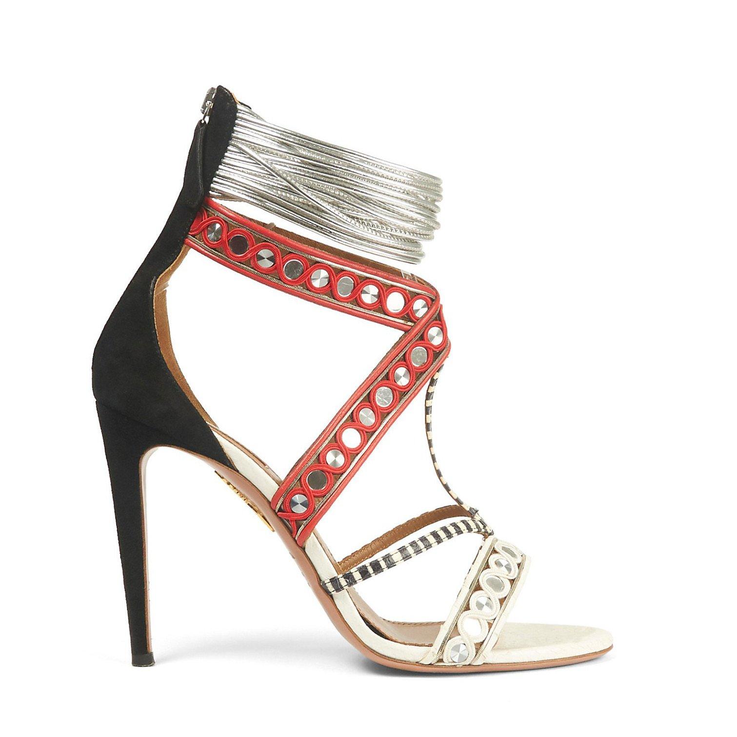 Aquazzura The Queen Embellished Sandals