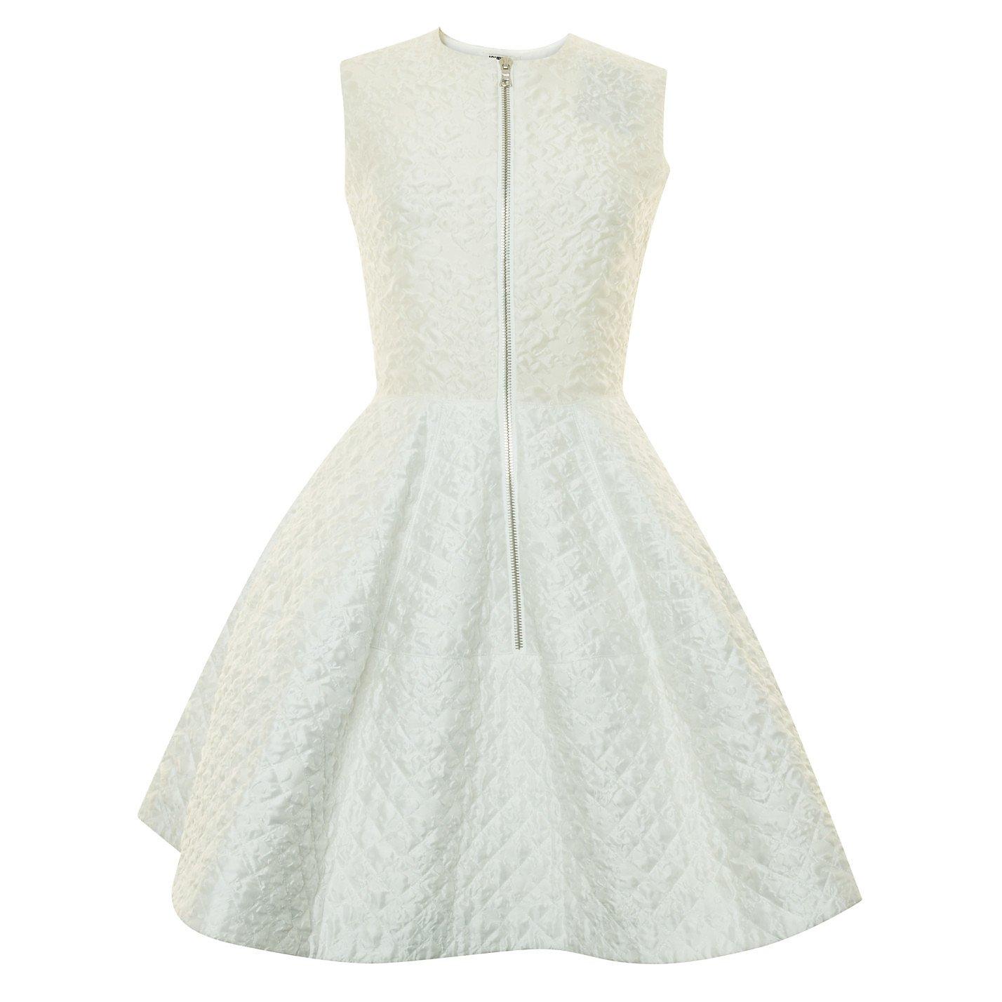 Jourden Zip-Front Textured Dress