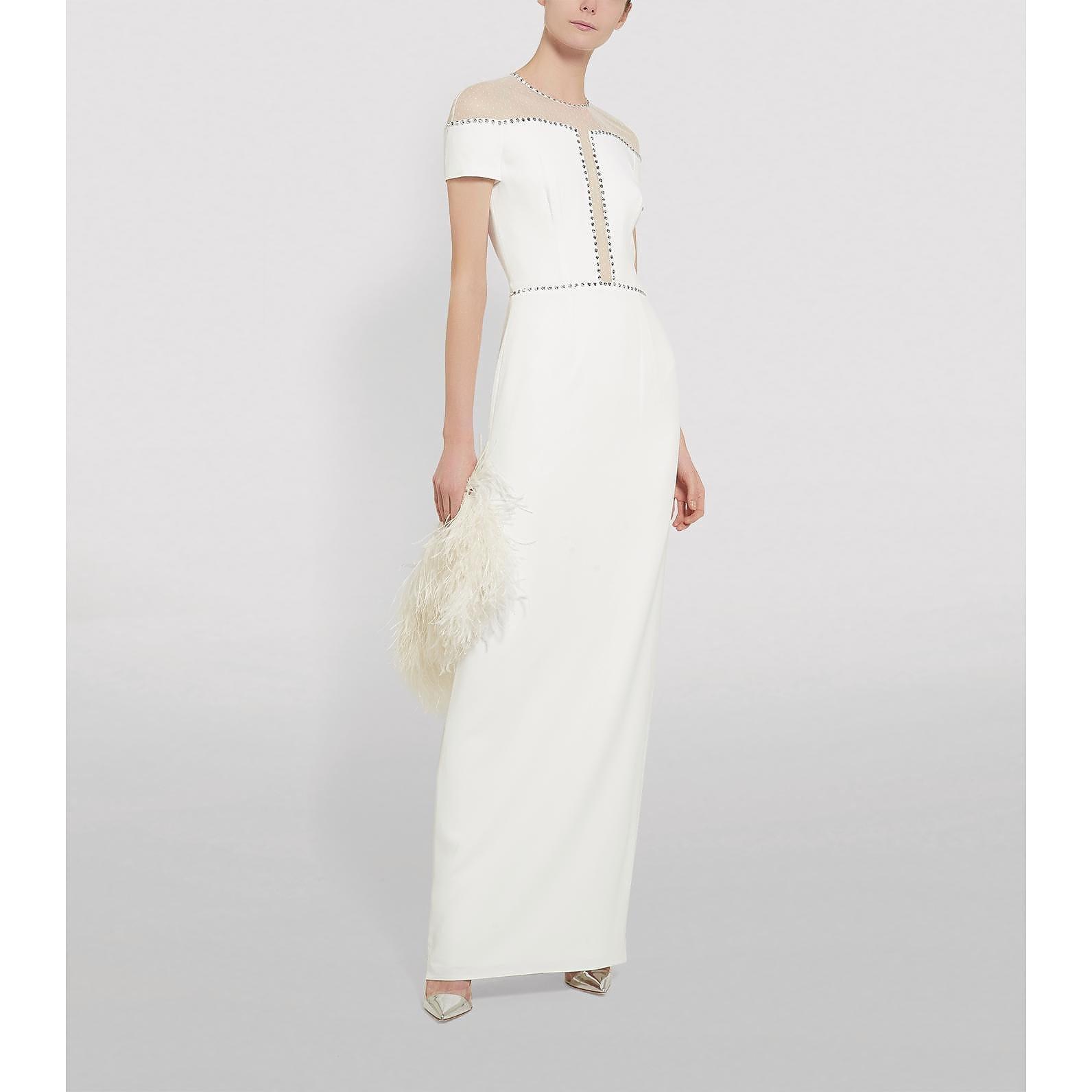 Jenny Packham Dora Crepe Column Gown