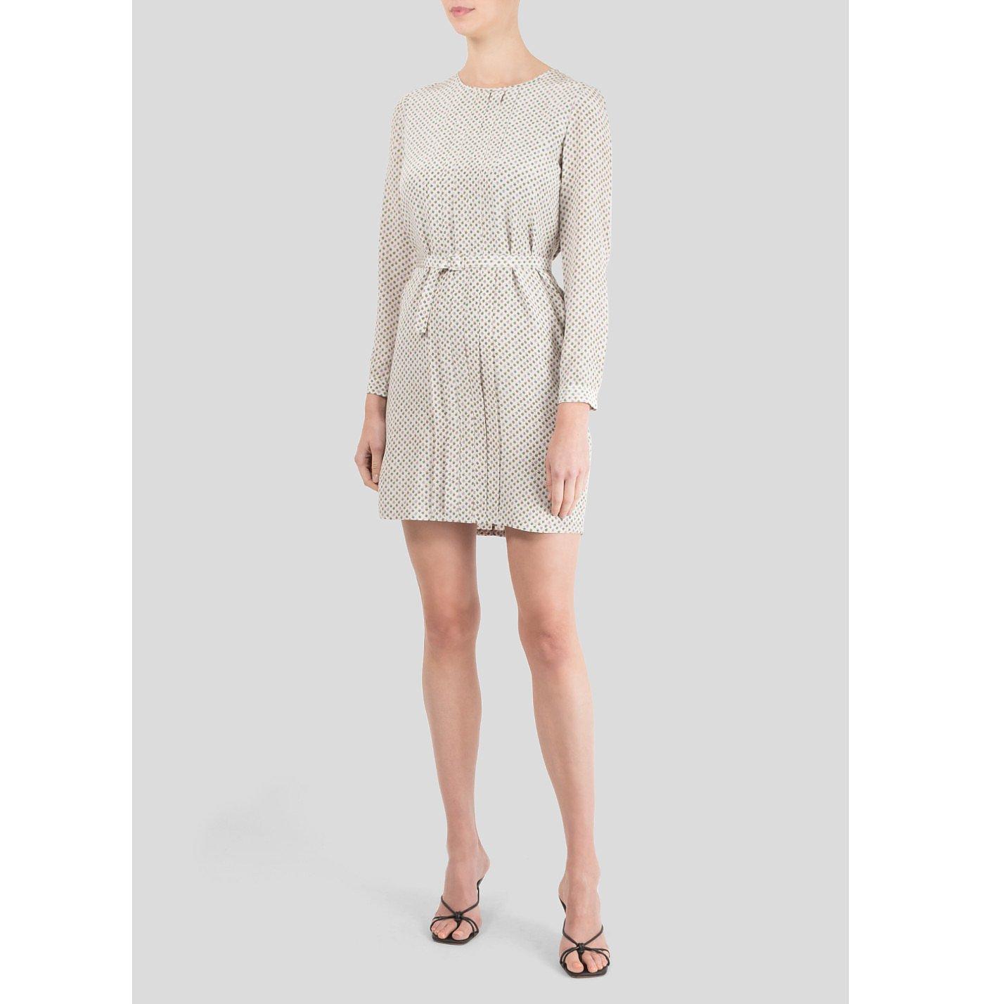 A.P.C. Apple Print Silk Dress