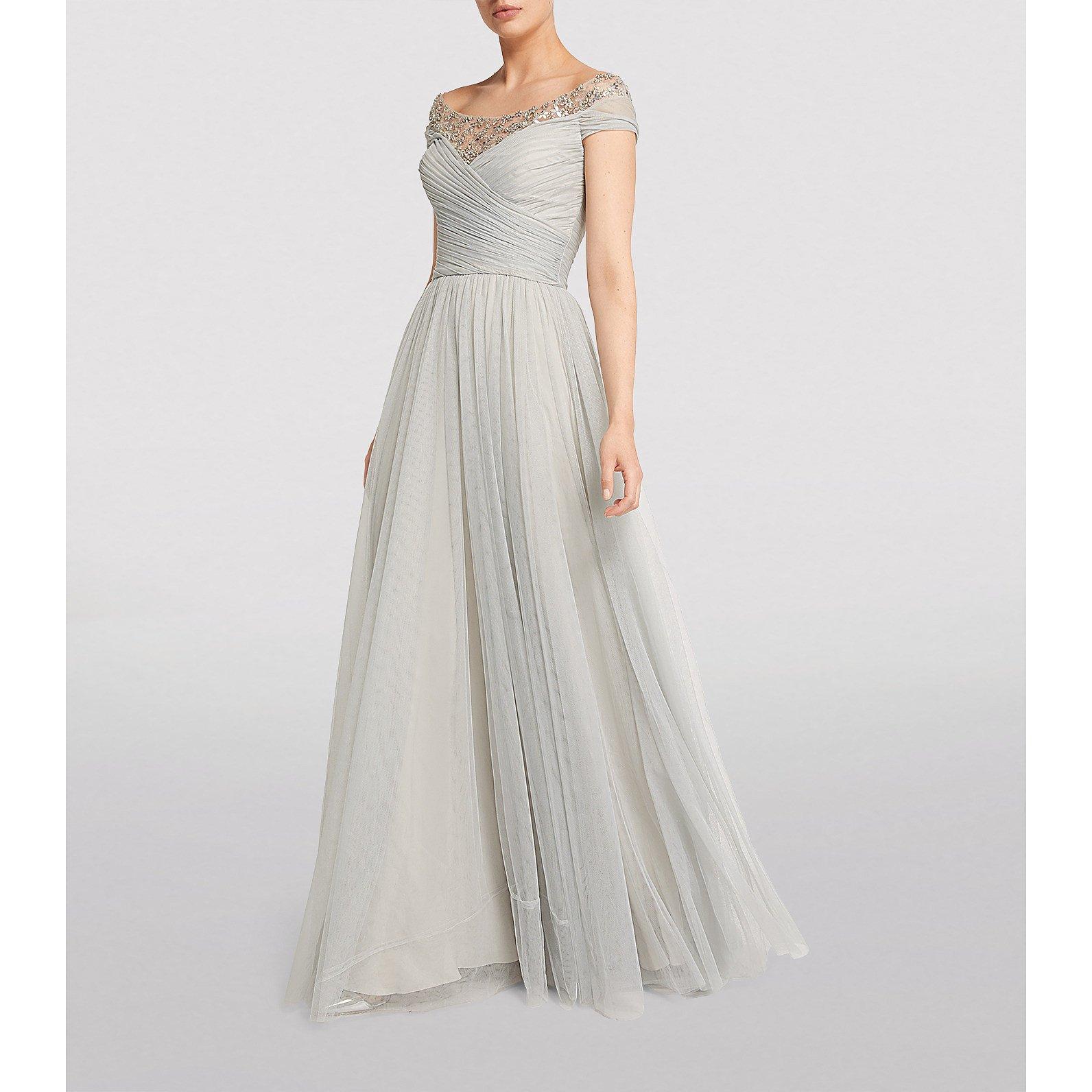 Jenny Packham Isabeau Embellished Tulle Gown