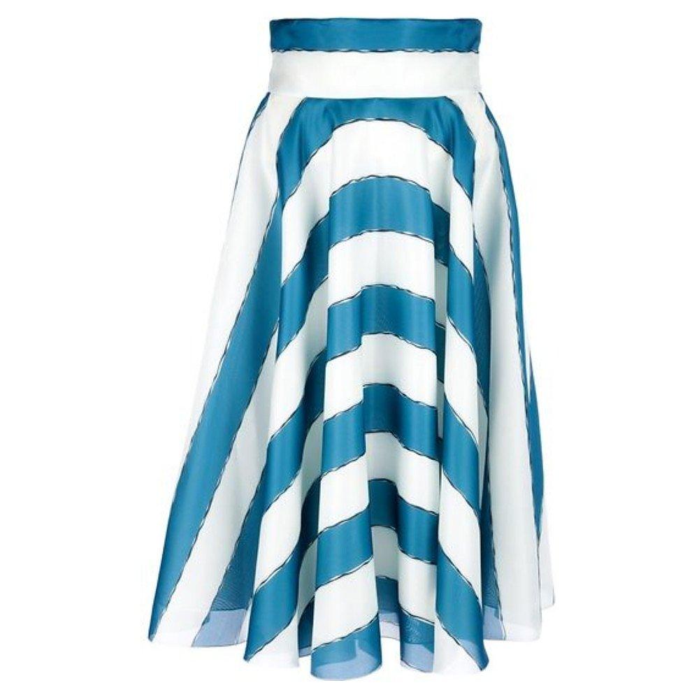 DOLCE & GABBANA Striped Silk Skirt